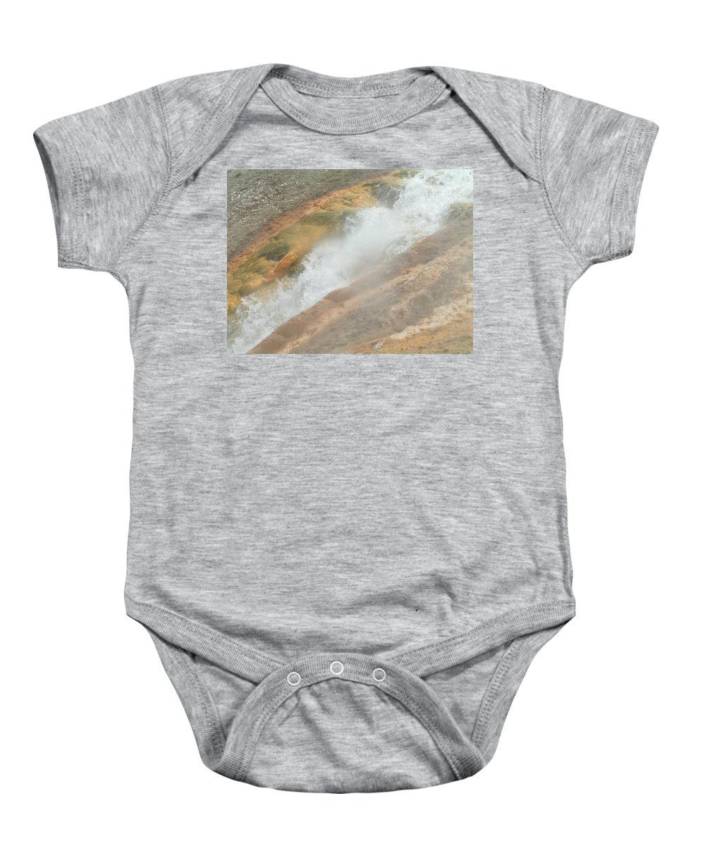 Yellowstone Baby Onesie featuring the digital art Conflict Of Forms by Valerie Nolan