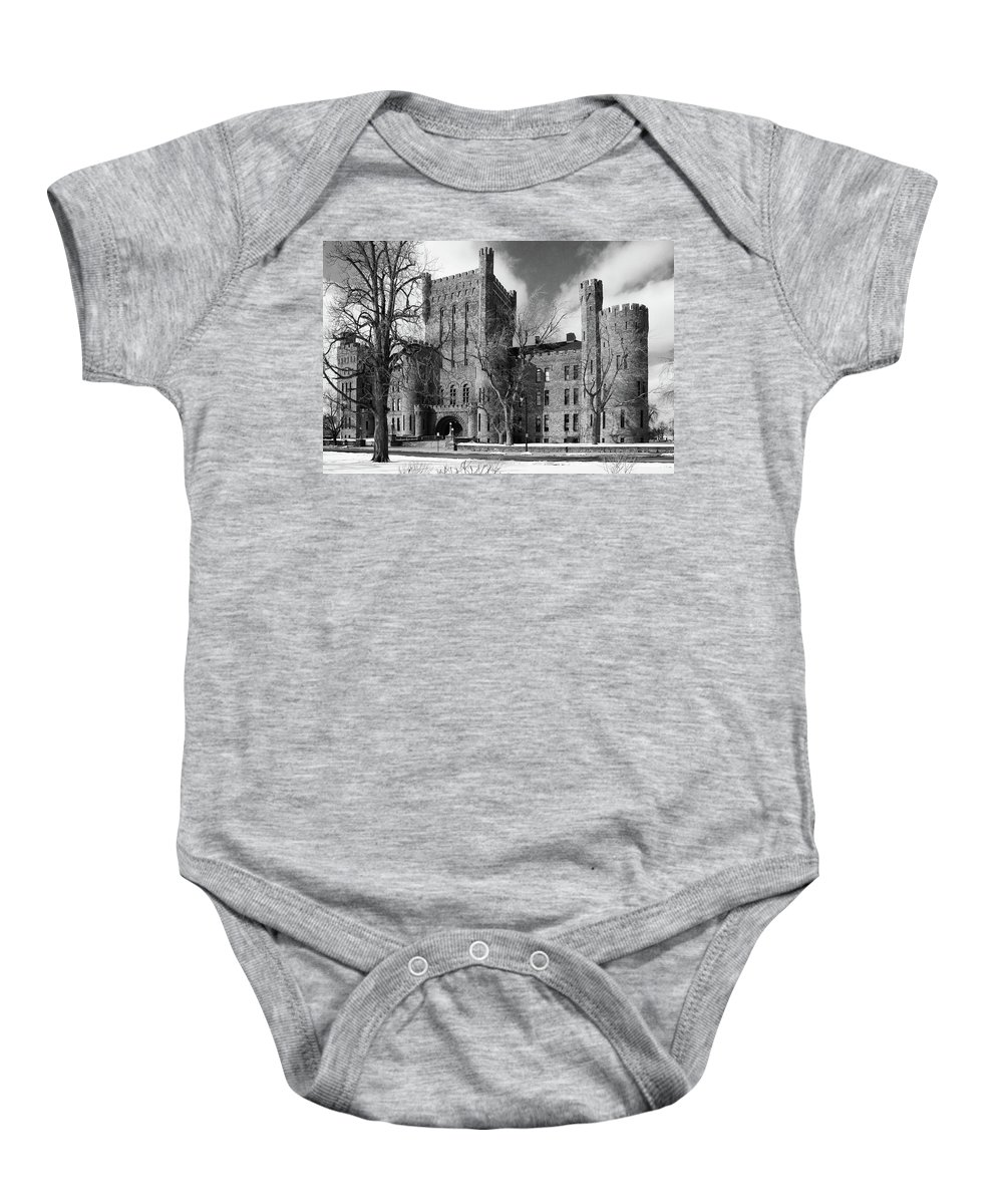 Armory Baby Onesie featuring the photograph Connecticut Street Armory 3997b by Guy Whiteley