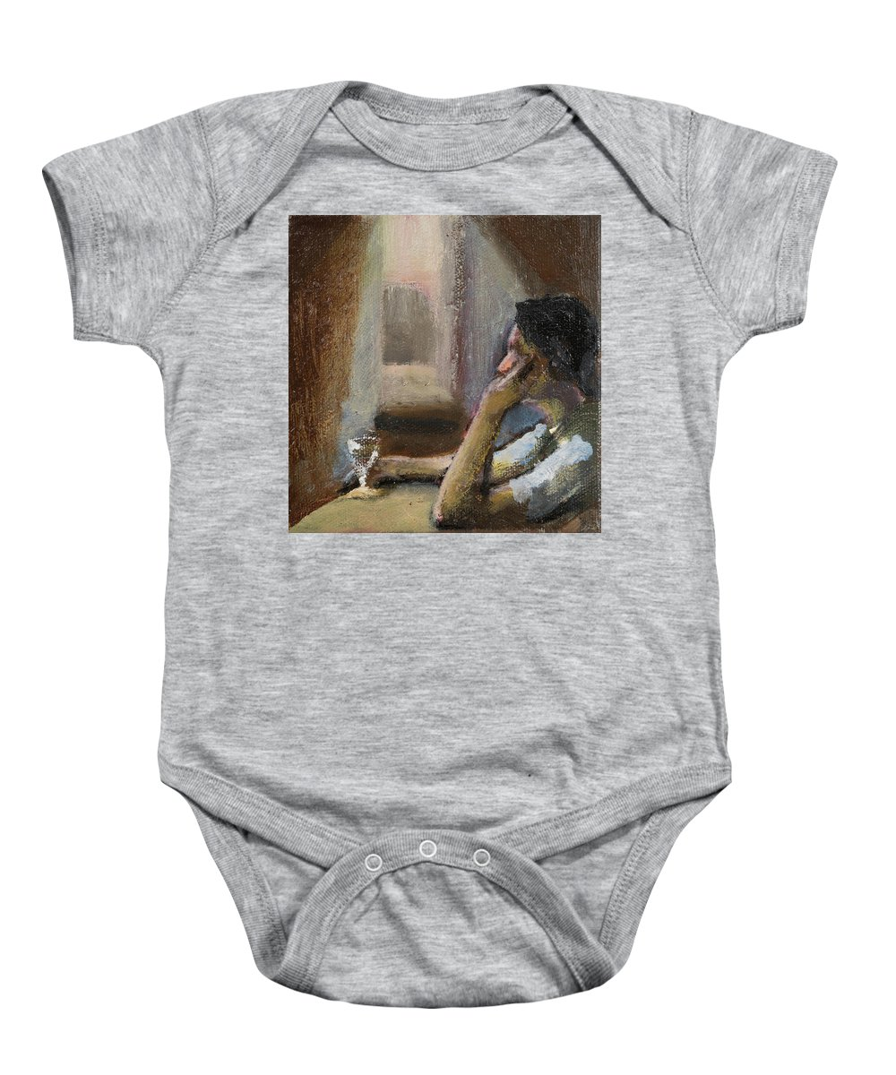Contemplation Baby Onesie featuring the painting Contemplation by Craig Newland