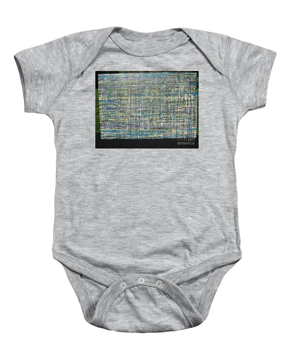 Baby Onesie featuring the painting Convoluted by Jacqueline Athmann