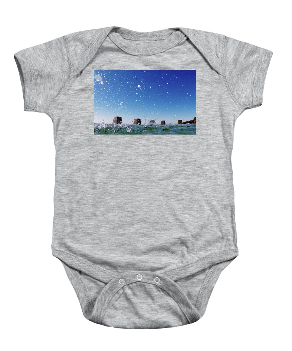 Baby Onesie featuring the photograph Coogee Pool by Chris Lane
