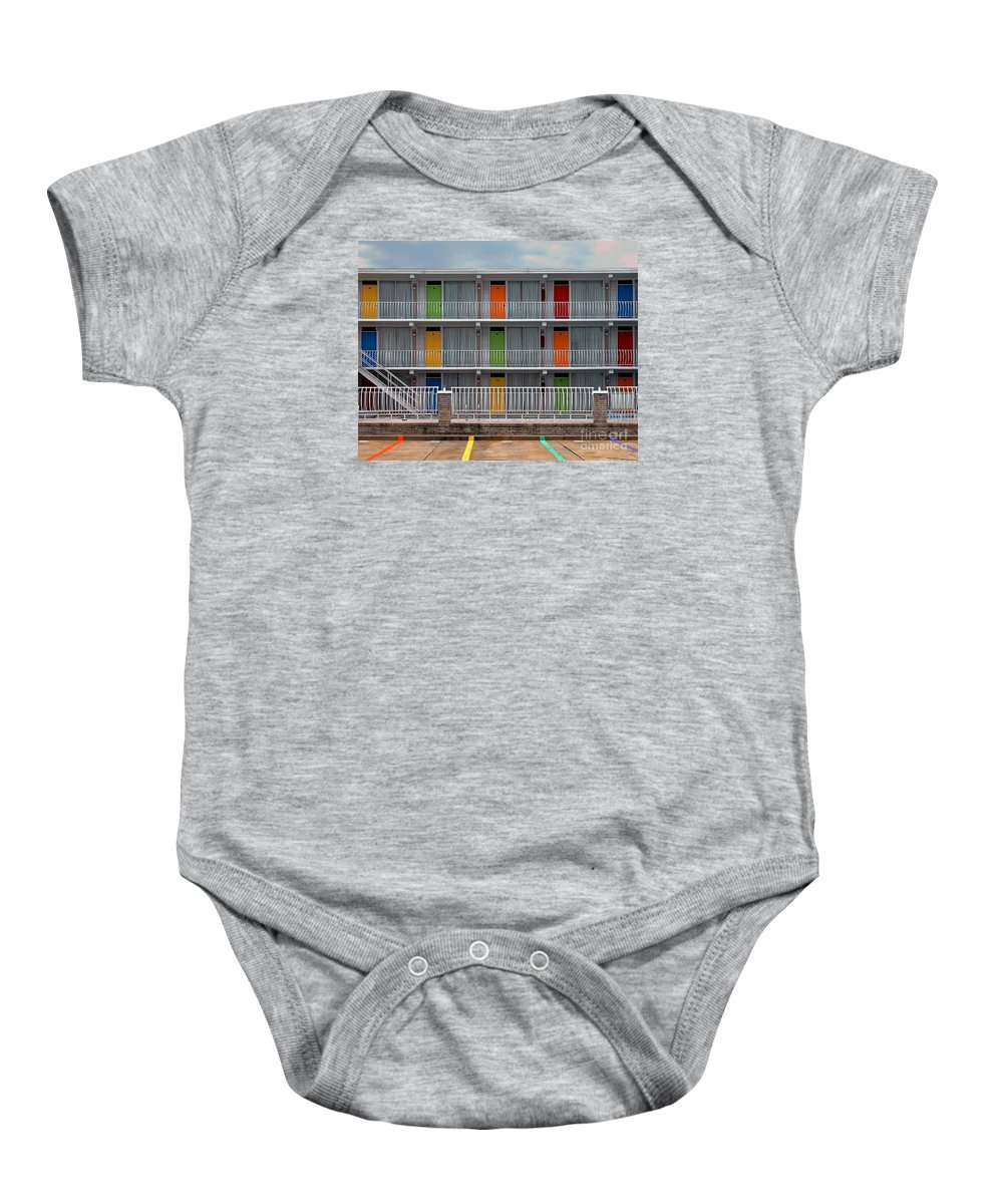 Bradley Baby Onesie featuring the photograph Coordinated Colors by Rich Despins