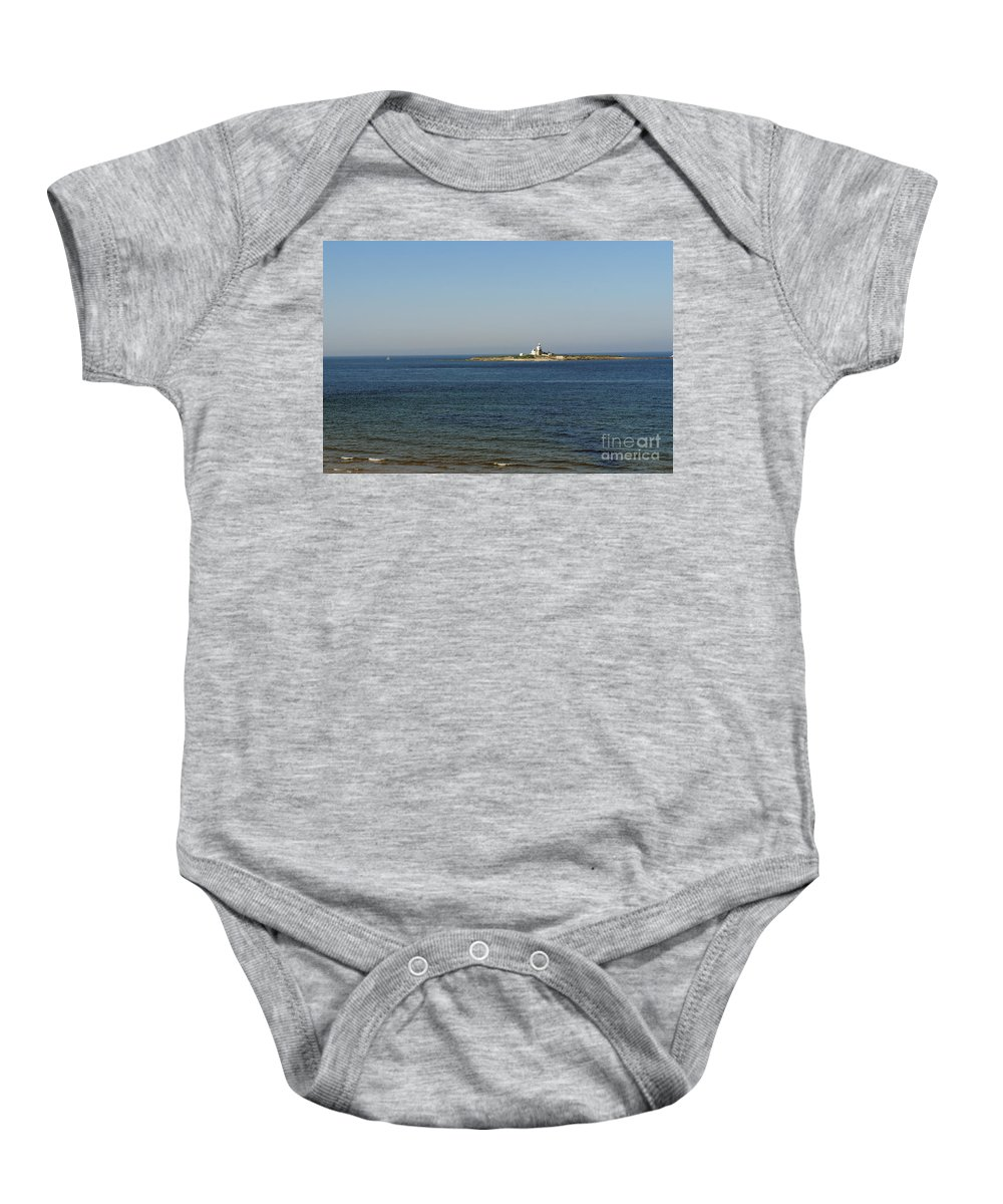 Lighthouse Baby Onesie featuring the photograph Coquet Island And Lighthouse by Elena Perelman