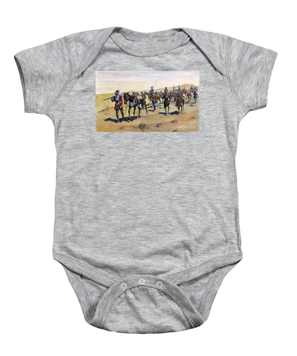 1540 Baby Onesie featuring the painting Coronados March, 1540 by Granger