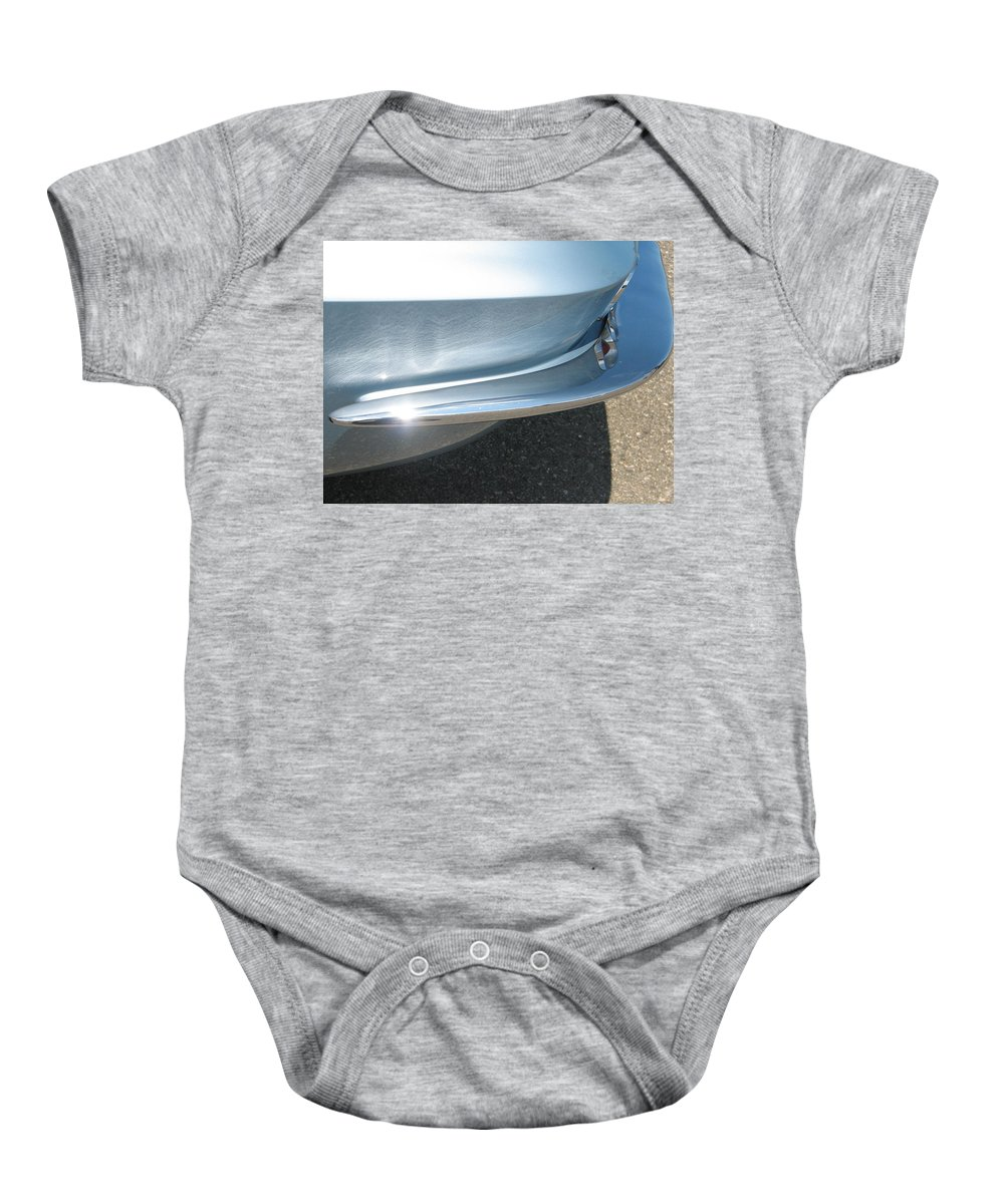Corvette Baby Onesie featuring the photograph Corvette Waves by Kelly Mezzapelle