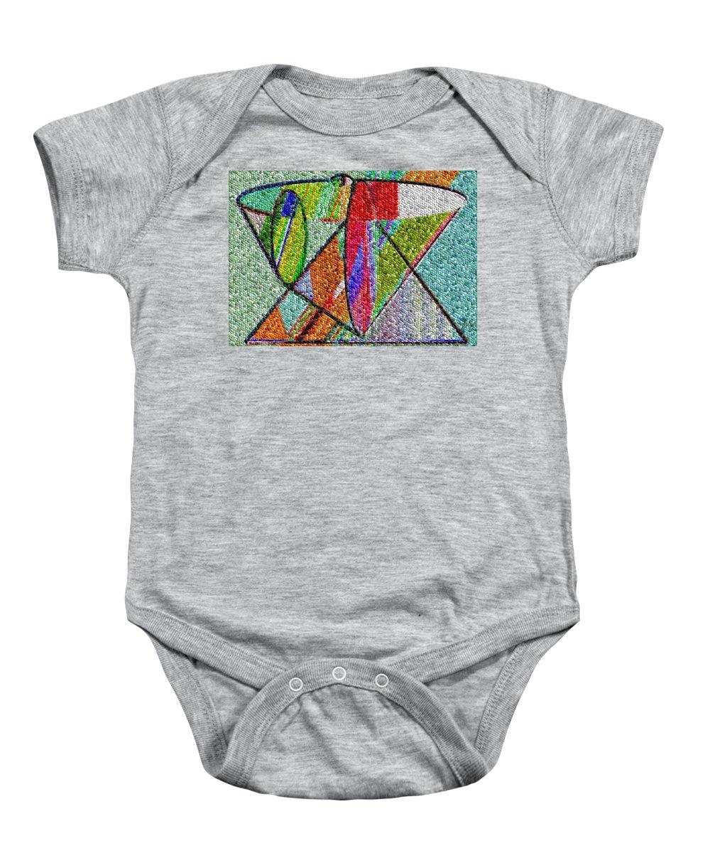 Life Baby Onesie featuring the digital art Cosmic Lifeways Mosaic by Helmut Rottler