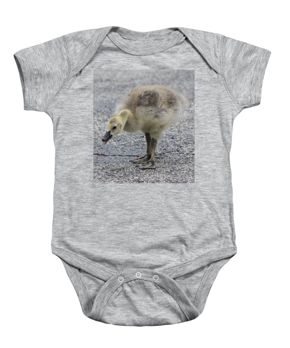 Goose Baby Onesie featuring the photograph Cough Cough by Lauri Novak