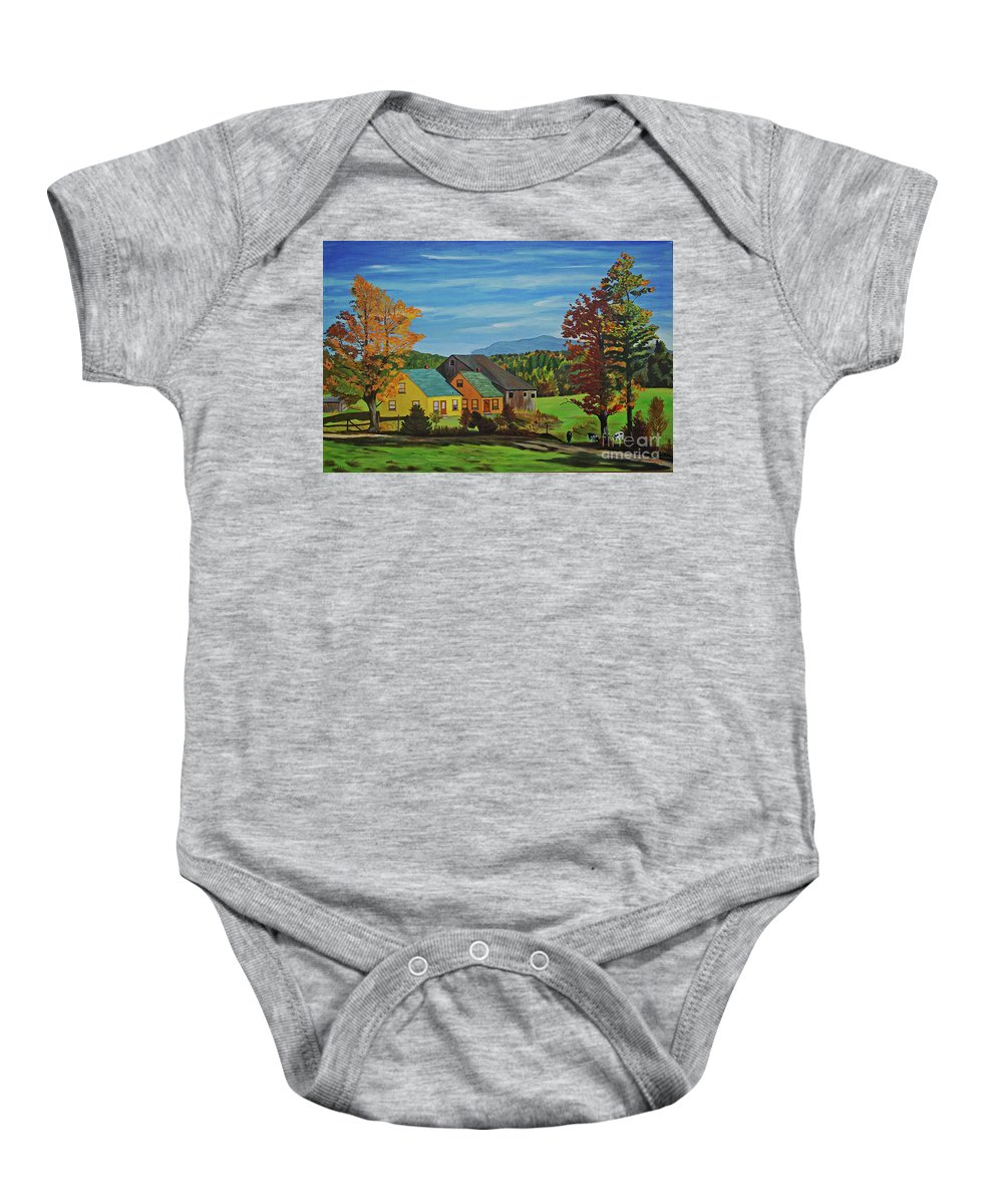 Country Baby Onesie featuring the photograph Country Home by Rich Walter