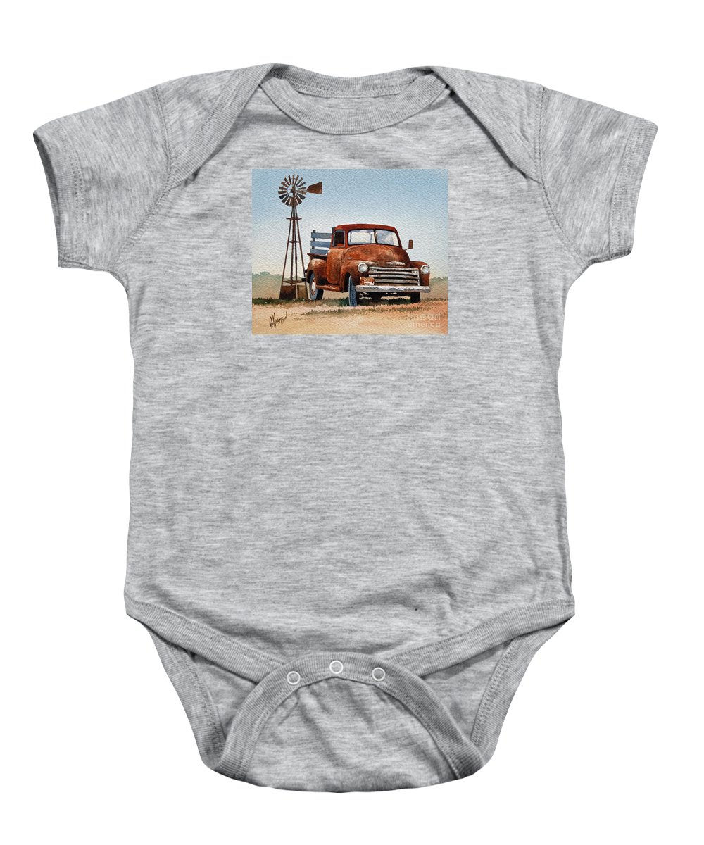 Country Print Baby Onesie featuring the painting Country Memories by James Williamson