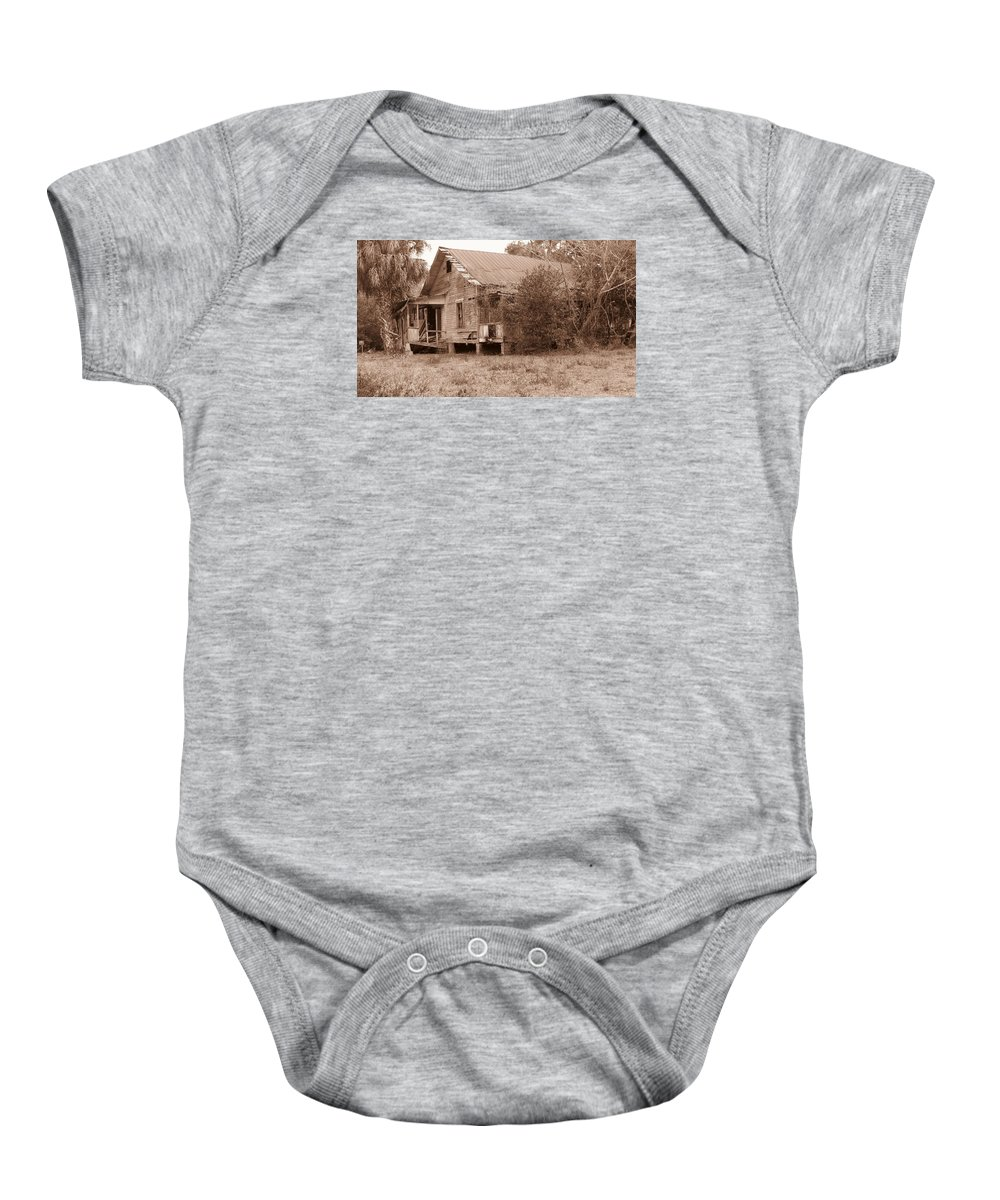 Landscape Baby Onesie featuring the photograph Cracker House #1 by Roger Epps