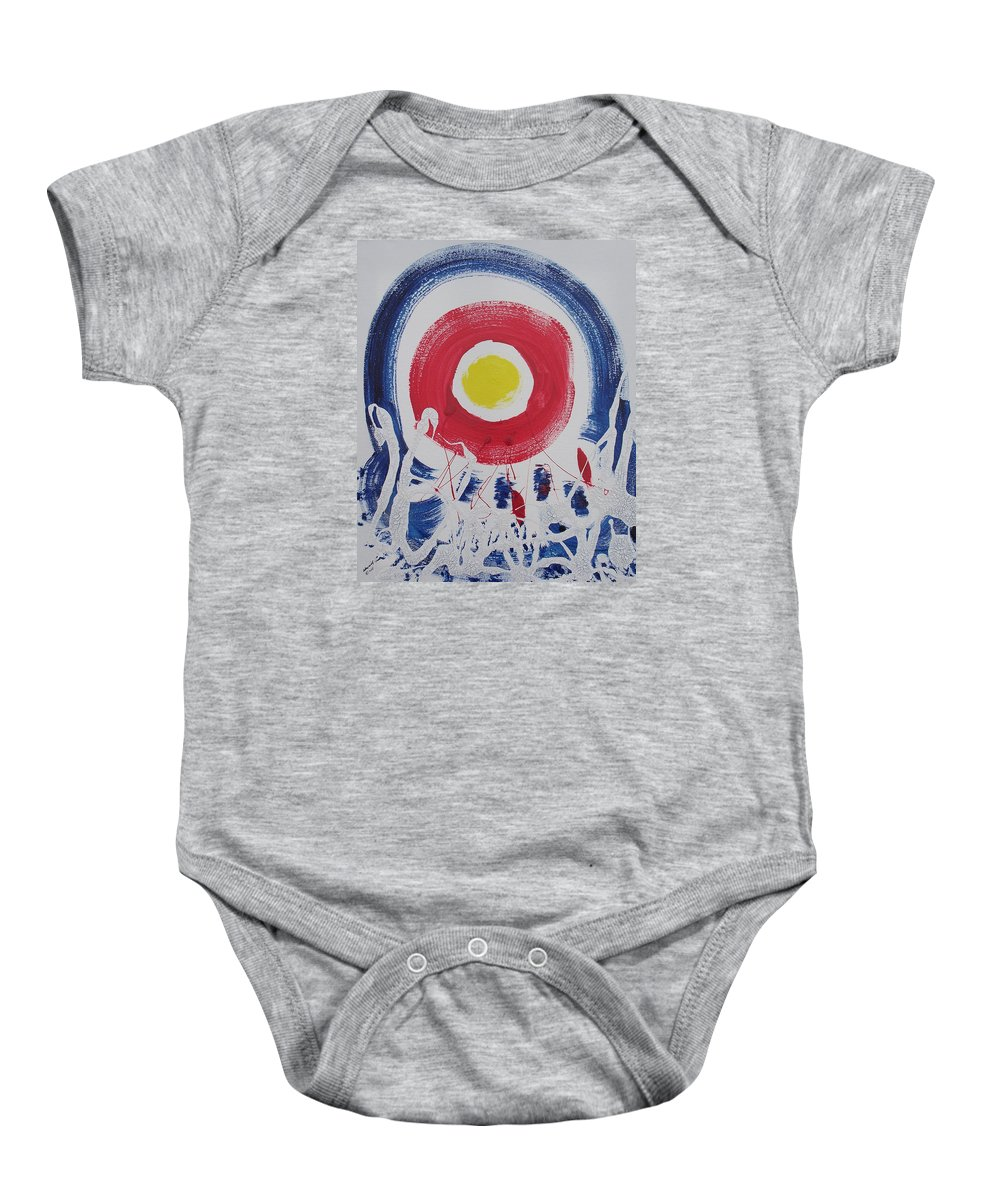 Global Warming Baby Onesie featuring the painting Cracks In The Universe by Arlene Wright-Correll