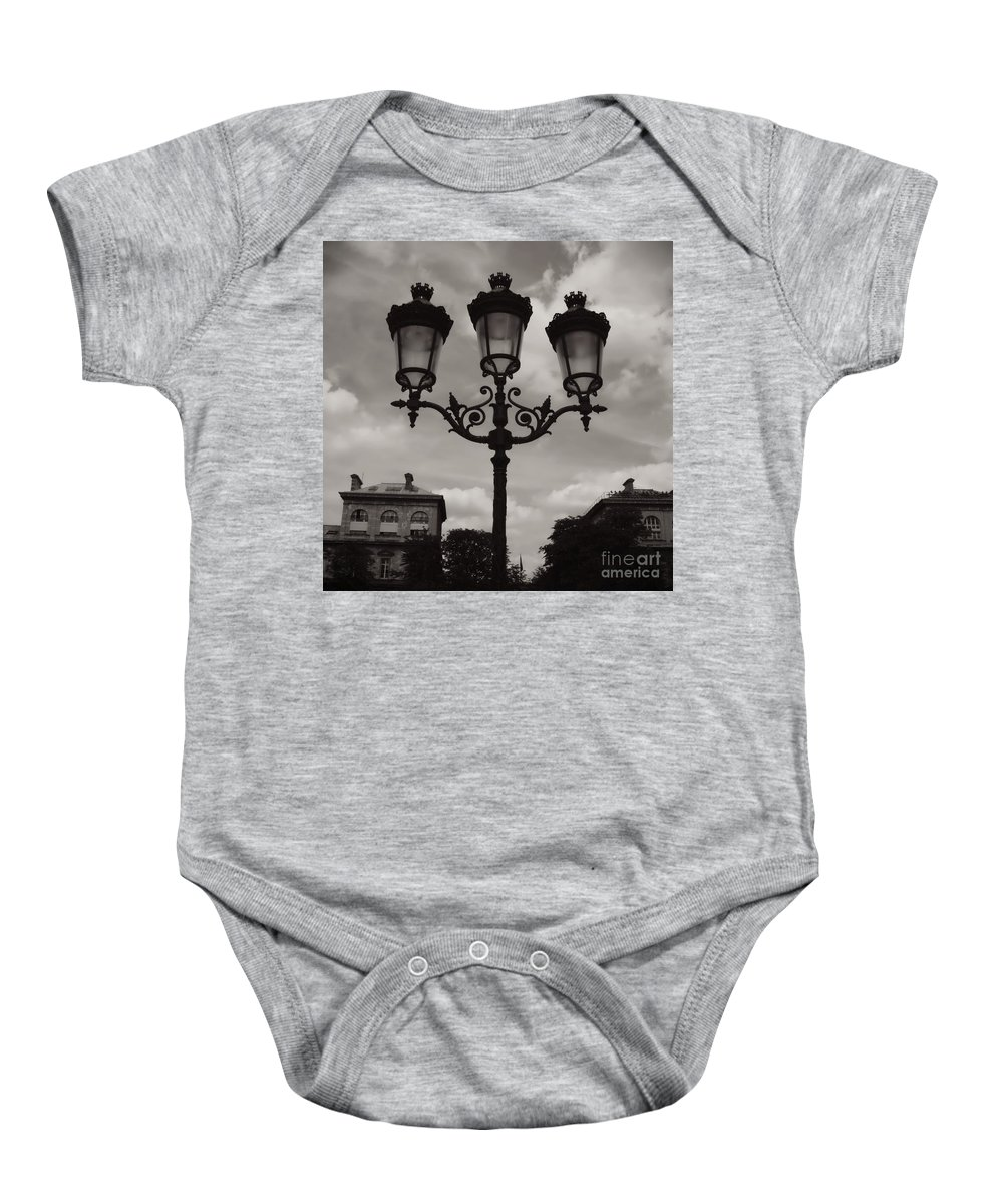 Paris Luminaires Baby Onesie featuring the photograph Crowned Luminaires In Paris by Carol Groenen