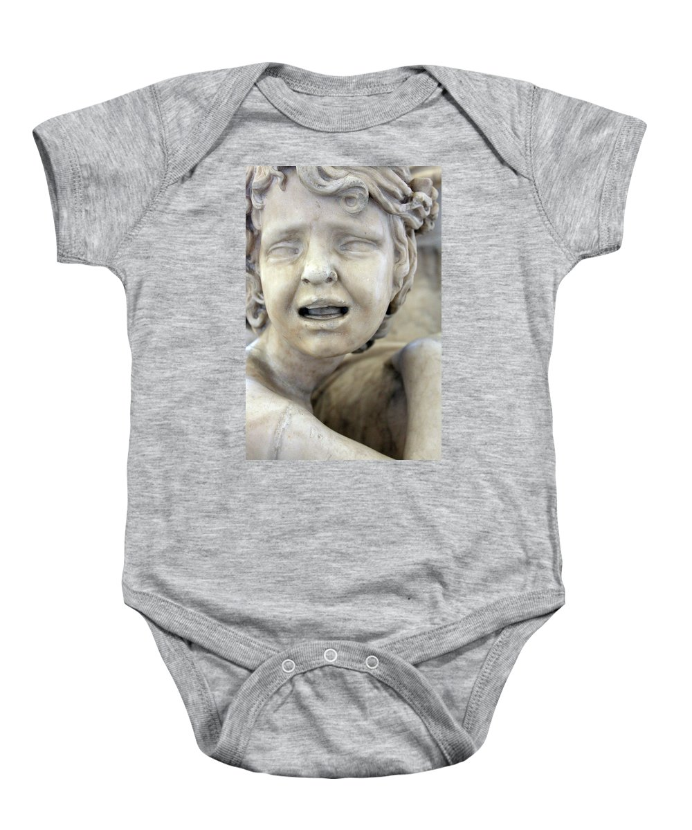Crying Baby Onesie featuring the photograph Crying Baby by Munir Alawi