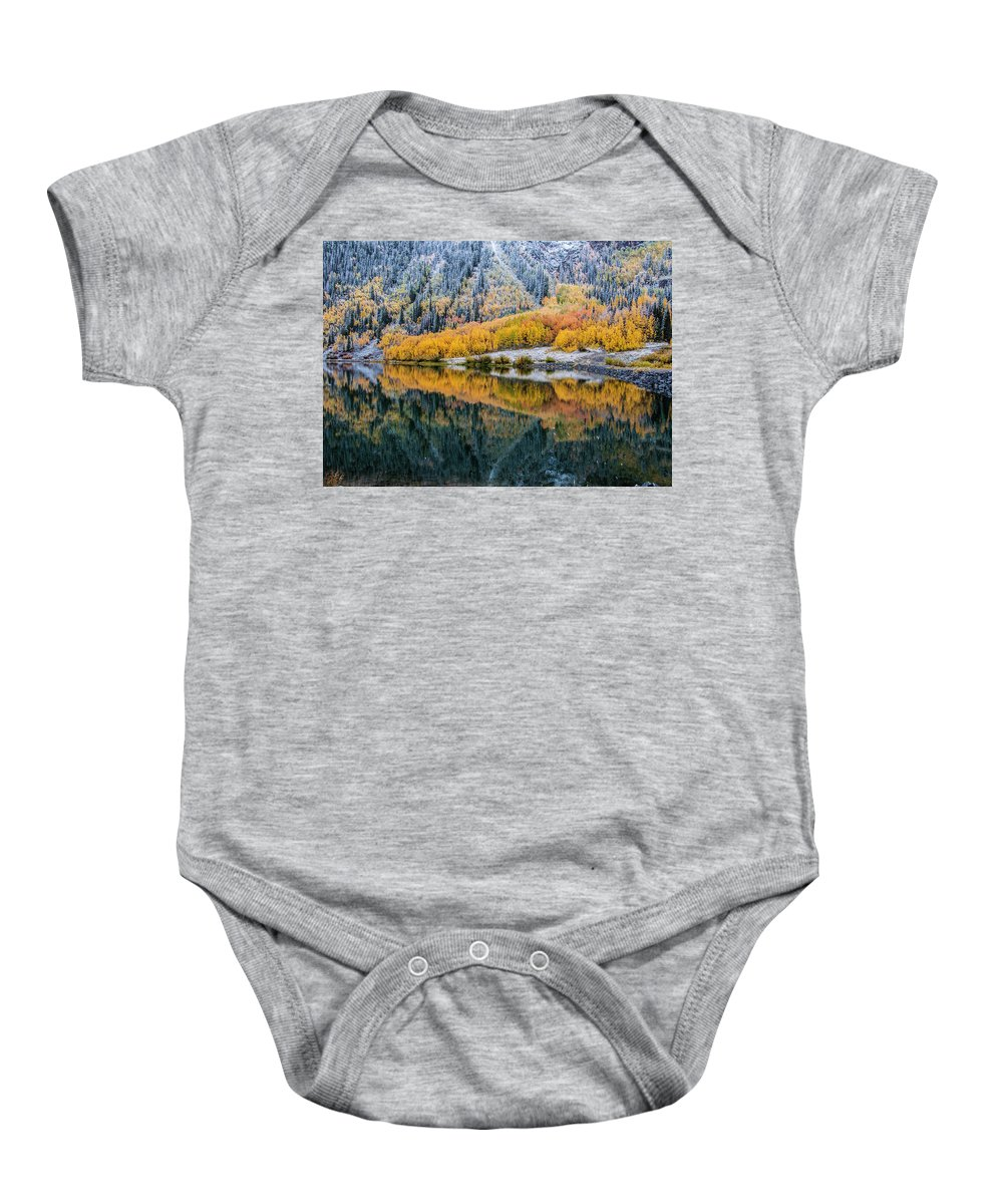 Crystal Lake Baby Onesie featuring the photograph Crystal Lake Area 1 by Paul Cannon