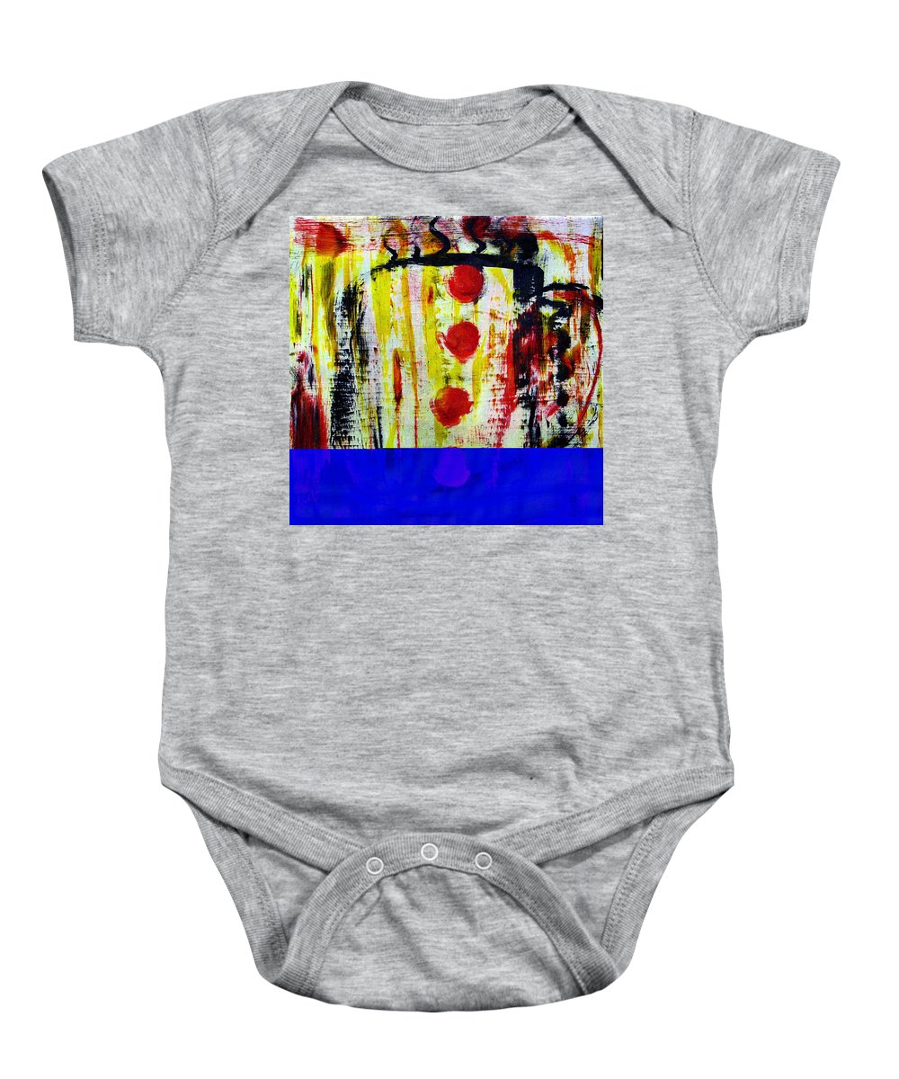 Coffee Baby Onesie featuring the painting Cup Of Java by Wayne Potrafka