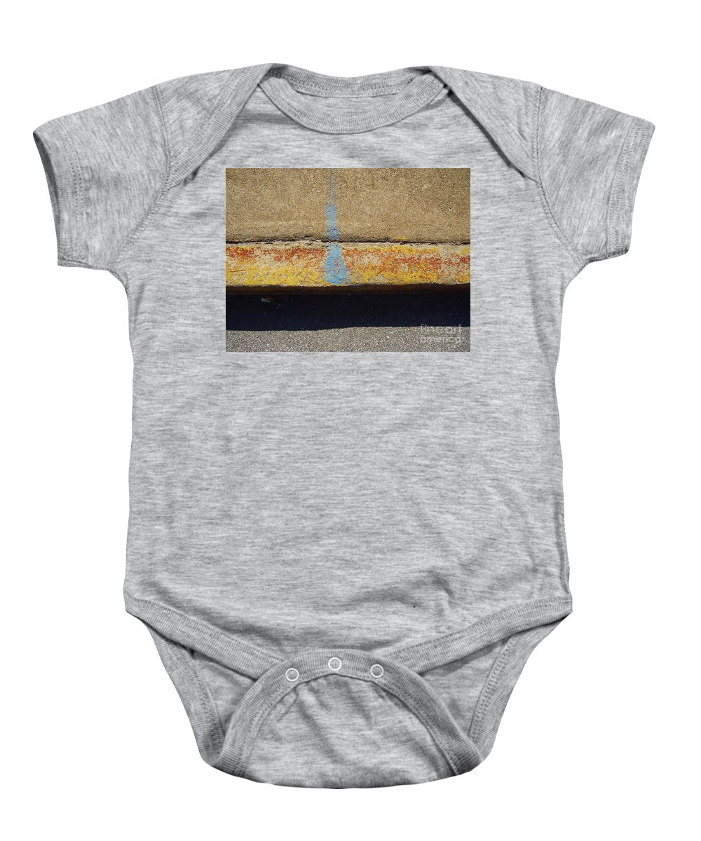 Abstract Baby Onesie featuring the photograph Curb by Flavia Westerwelle