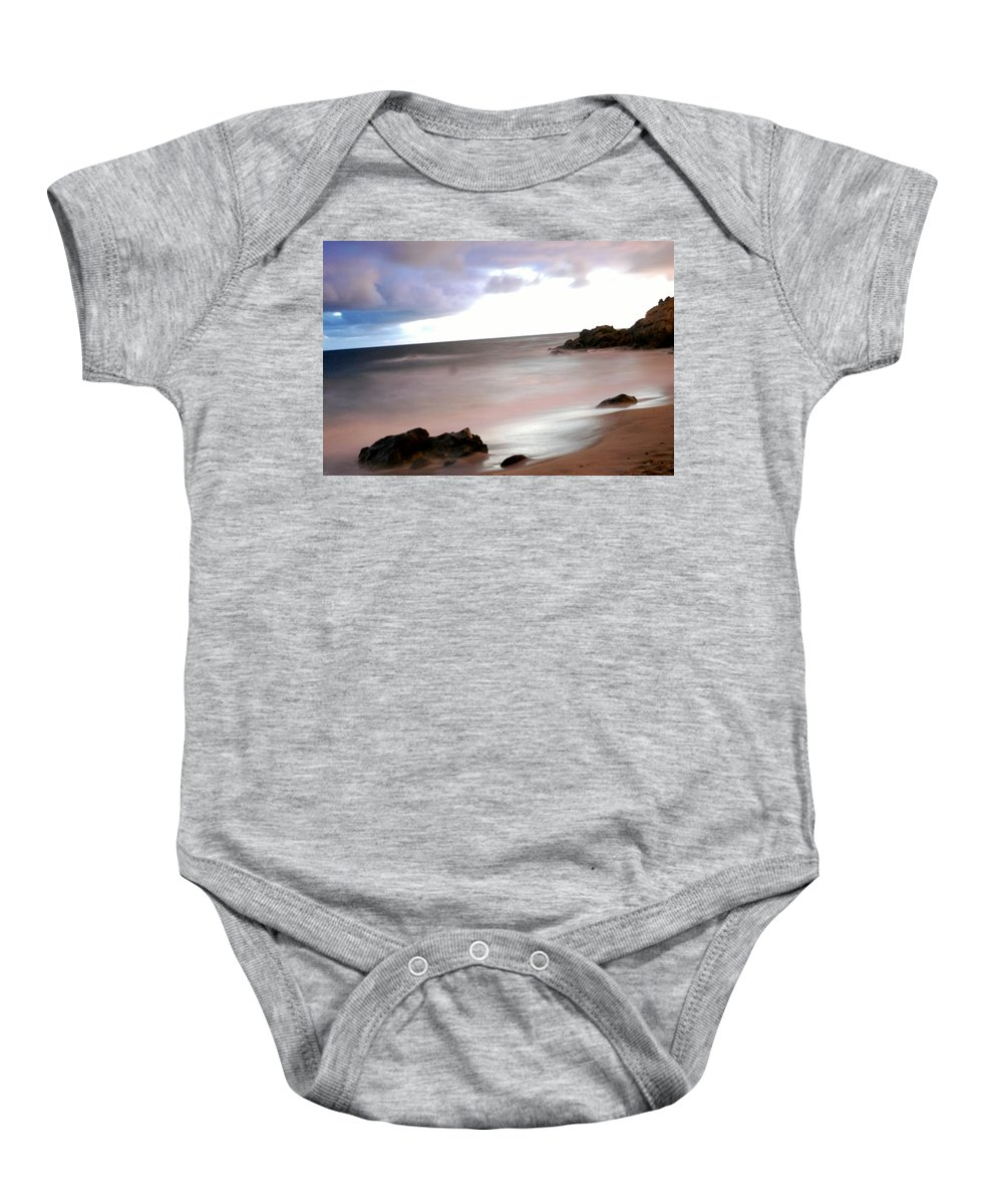 Ocean Baby Onesie featuring the photograph Curve Of The Horizon by Stephanie Haertling