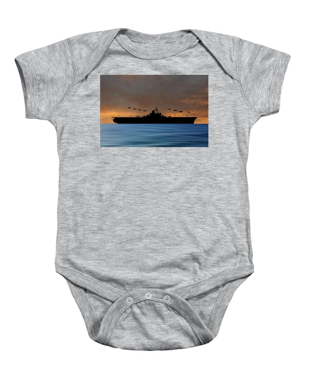 Cus Abraham Lincoln Baby Onesie featuring the photograph Cus Abraham Lincoln 1941 V3 by Smart Aviation