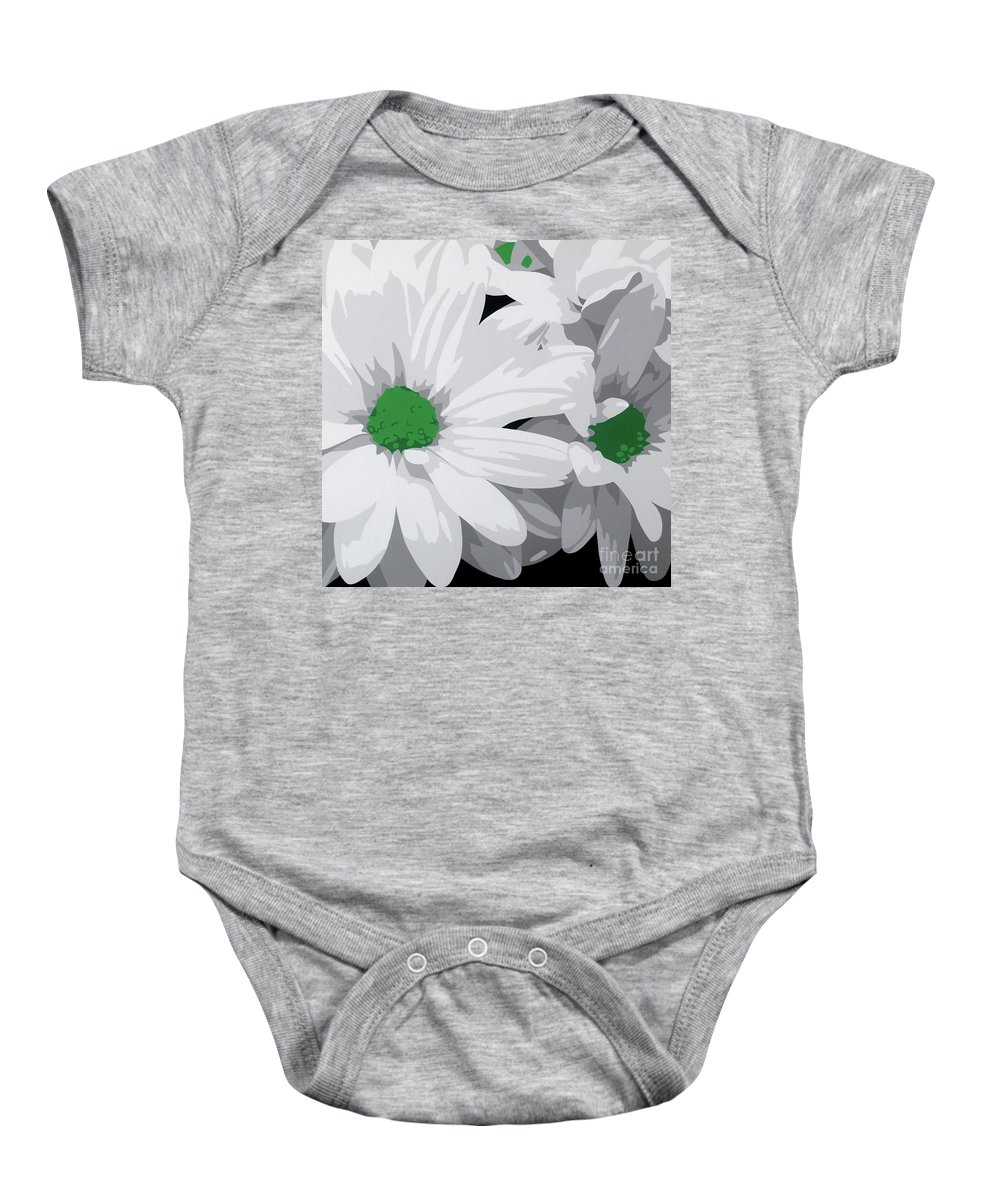 Acrylic On Canvas Baby Onesie featuring the painting Daisy Chain by Susan Porter