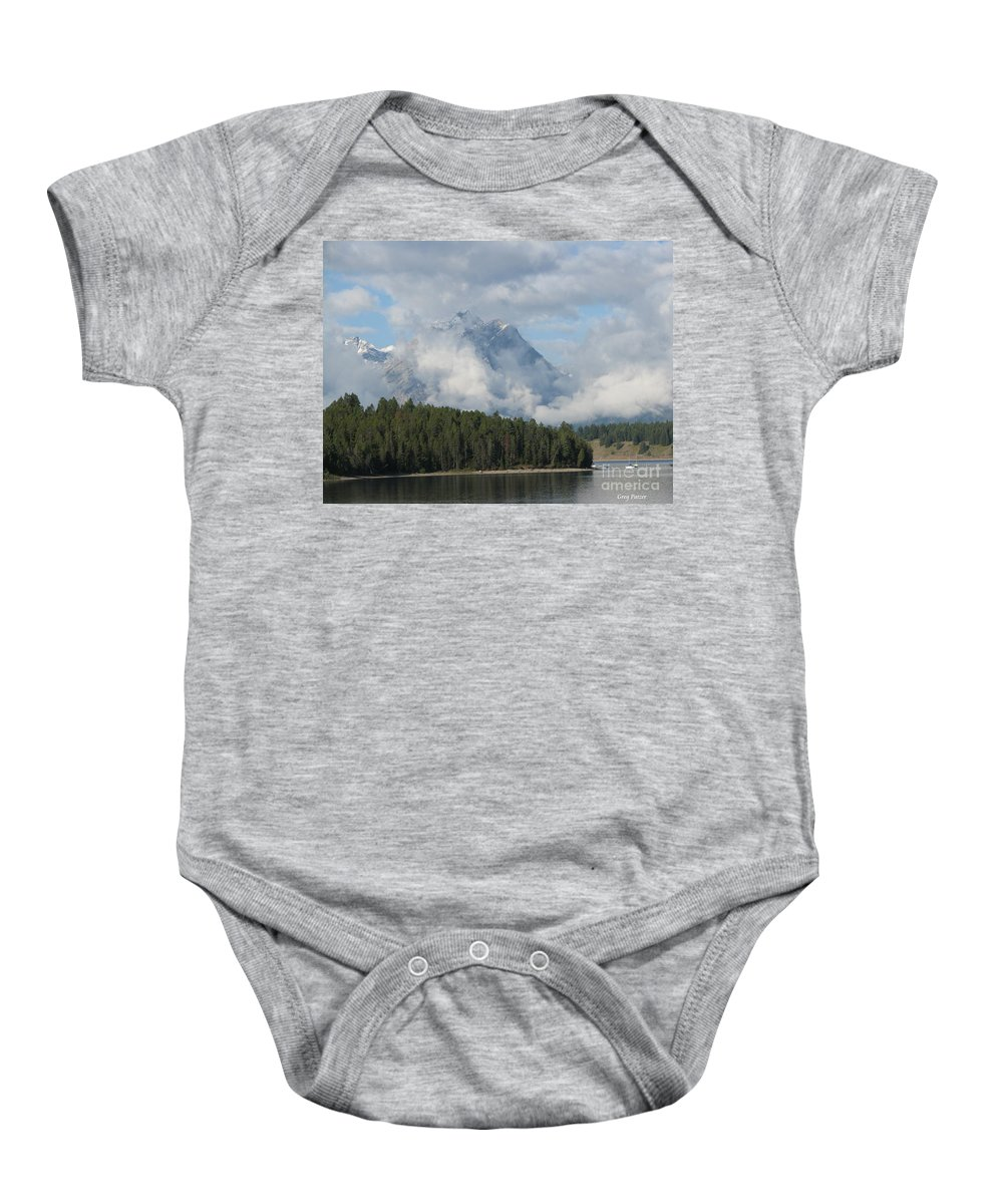 Patzer Baby Onesie featuring the photograph Dam Clouds by Greg Patzer