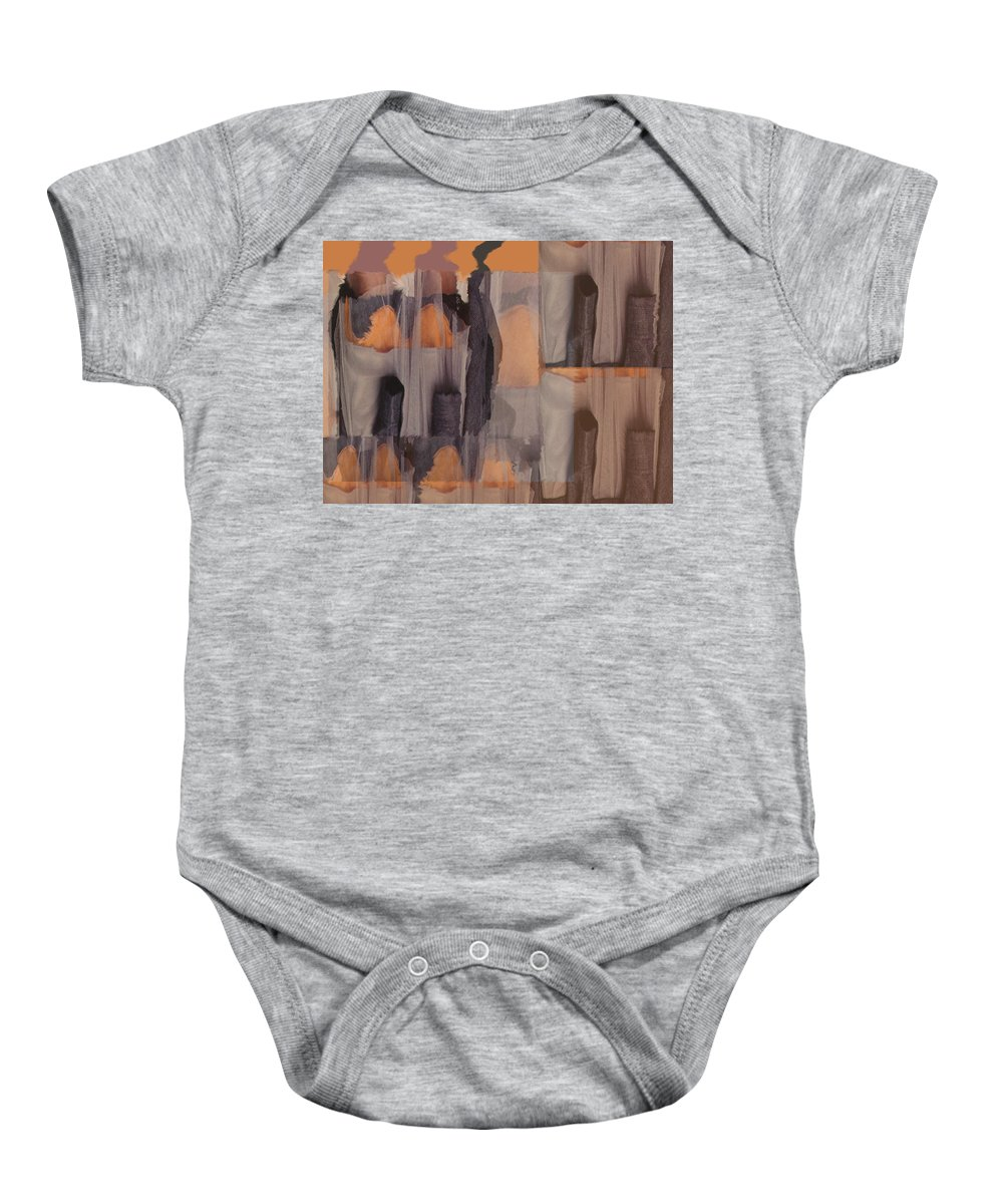 Dance Troup Baby Onesie featuring the digital art Dance Troupe No 1 by Otto Graser