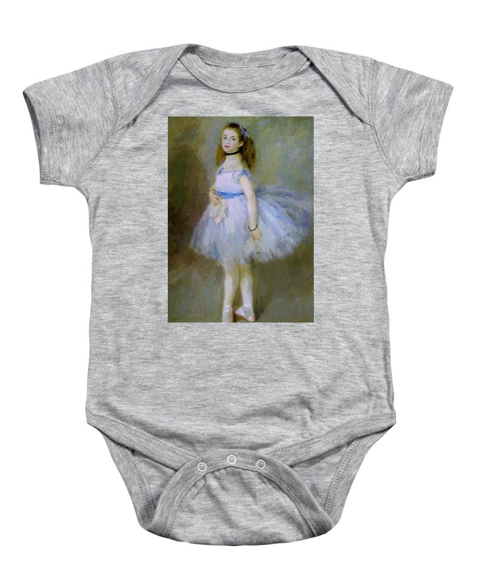 Dancer Baby Onesie featuring the painting Dancer 1874 by Renoir PierreAuguste