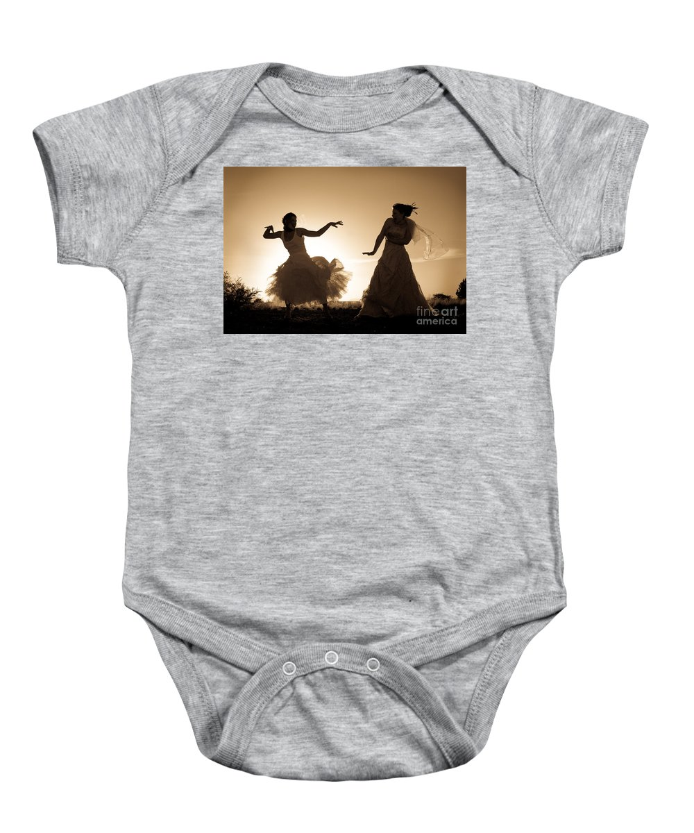 Dancing Girls Baby Onesie featuring the photograph Dancing Girls by Scott Sawyer