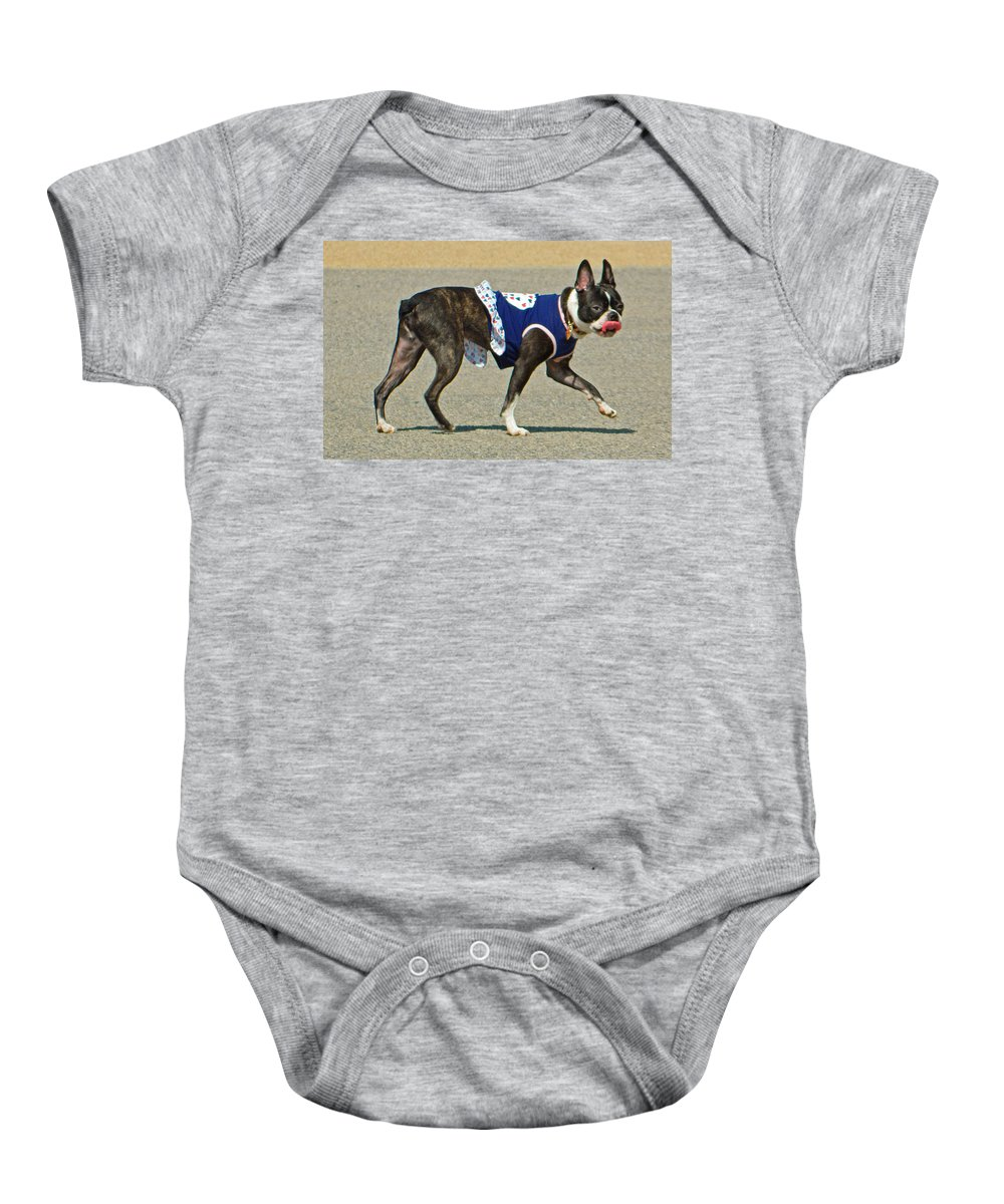 Dancing The Two Step At The Tidal Basin Baby Onesie featuring the photograph Dancing The Two Step At The Tidal Basin by Emmy Vickers