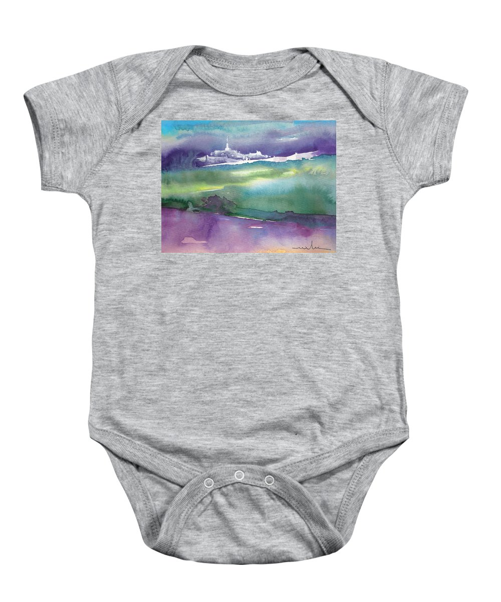Landscapes Baby Onesie featuring the painting Dawn 14 by Miki De Goodaboom