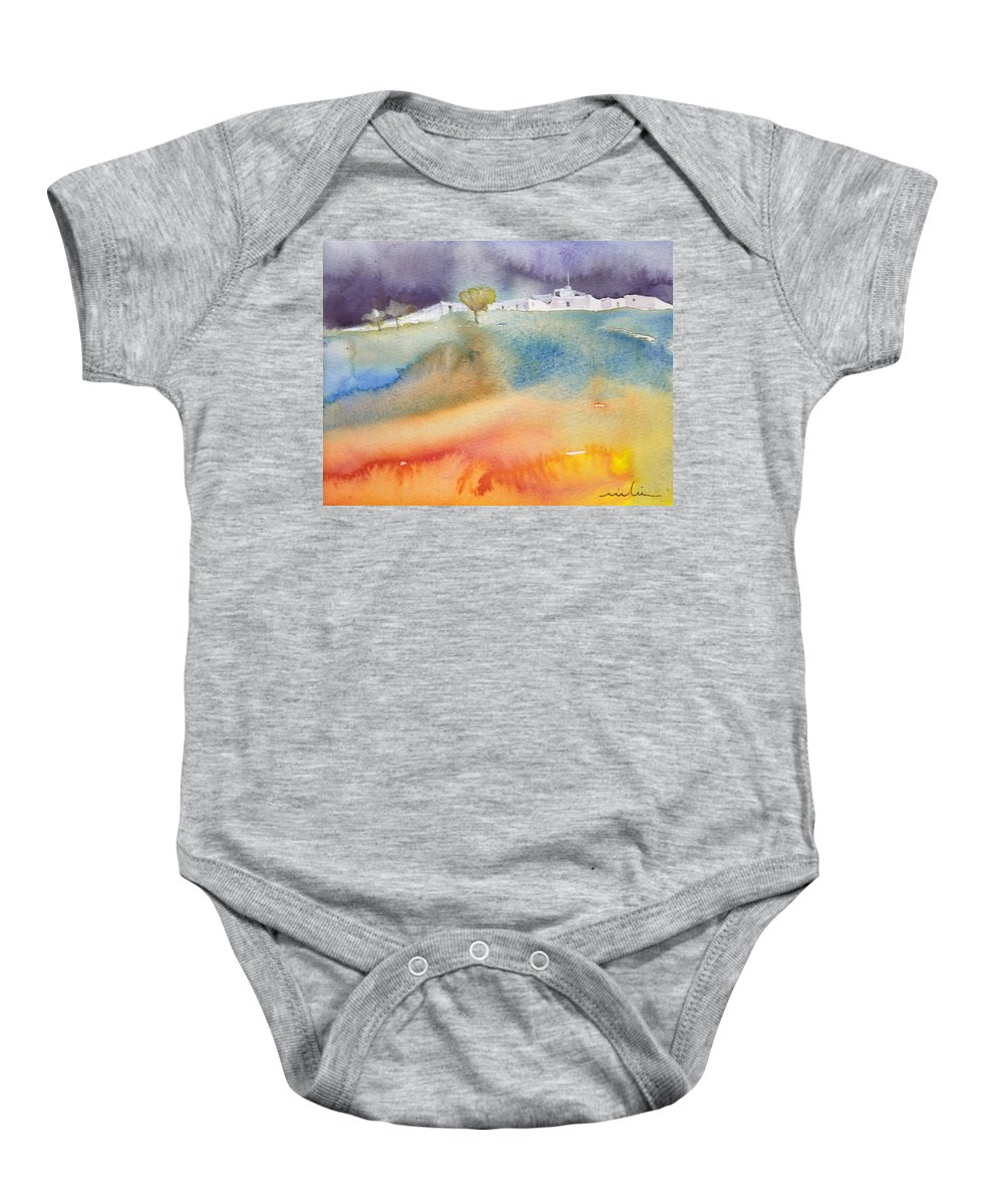 Landscapes Baby Onesie featuring the painting Dawn 15 by Miki De Goodaboom