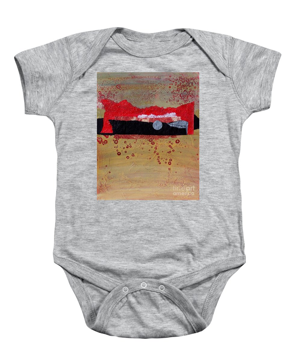 Abstract Baby Onesie featuring the painting Dawn Ascension by Donna Frost