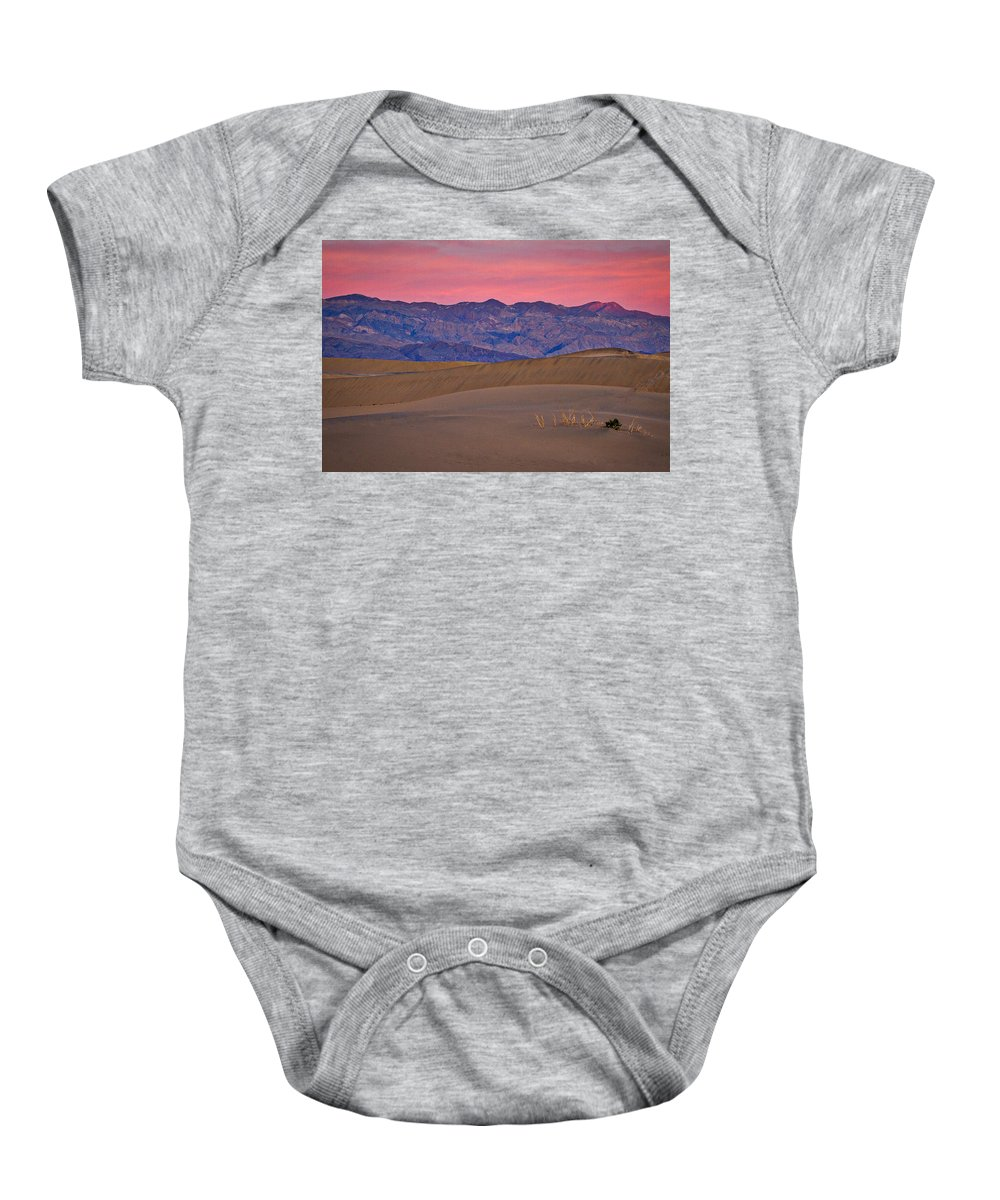 California Baby Onesie featuring the photograph Dawn At Mesquite Flat #3 - Death Valley by Stuart Litoff