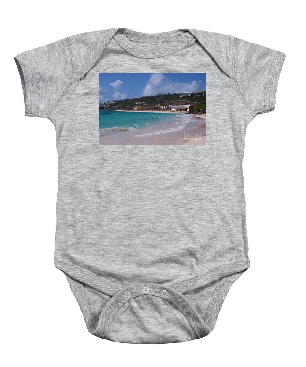 Dawn Beach Baby Onesie featuring the photograph Dawn Beach by Debbi Granruth