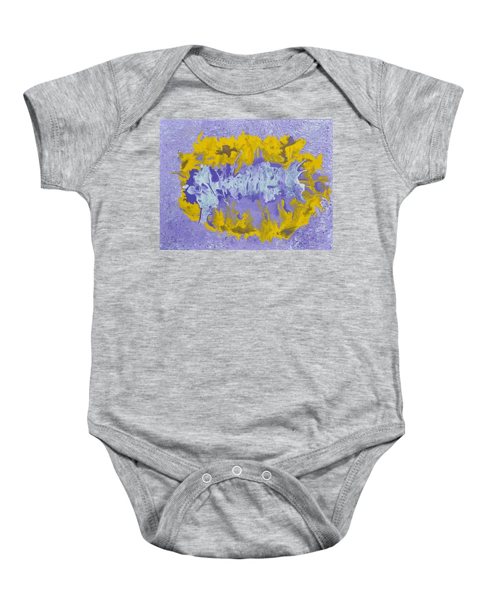 Acrylic Abstract Art Baby Onesie featuring the painting Daydreaming by Georgeta Blanaru
