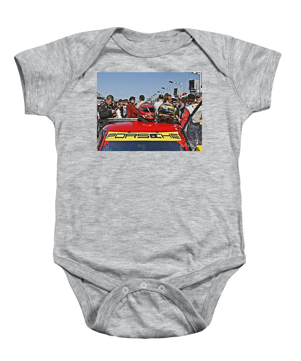 Auto Baby Onesie featuring the photograph Db119 by Howard Stapleton
