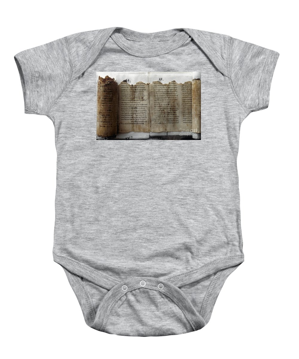 1st Century B.c. Baby Onesie featuring the photograph Dead Sea Scroll by Granger