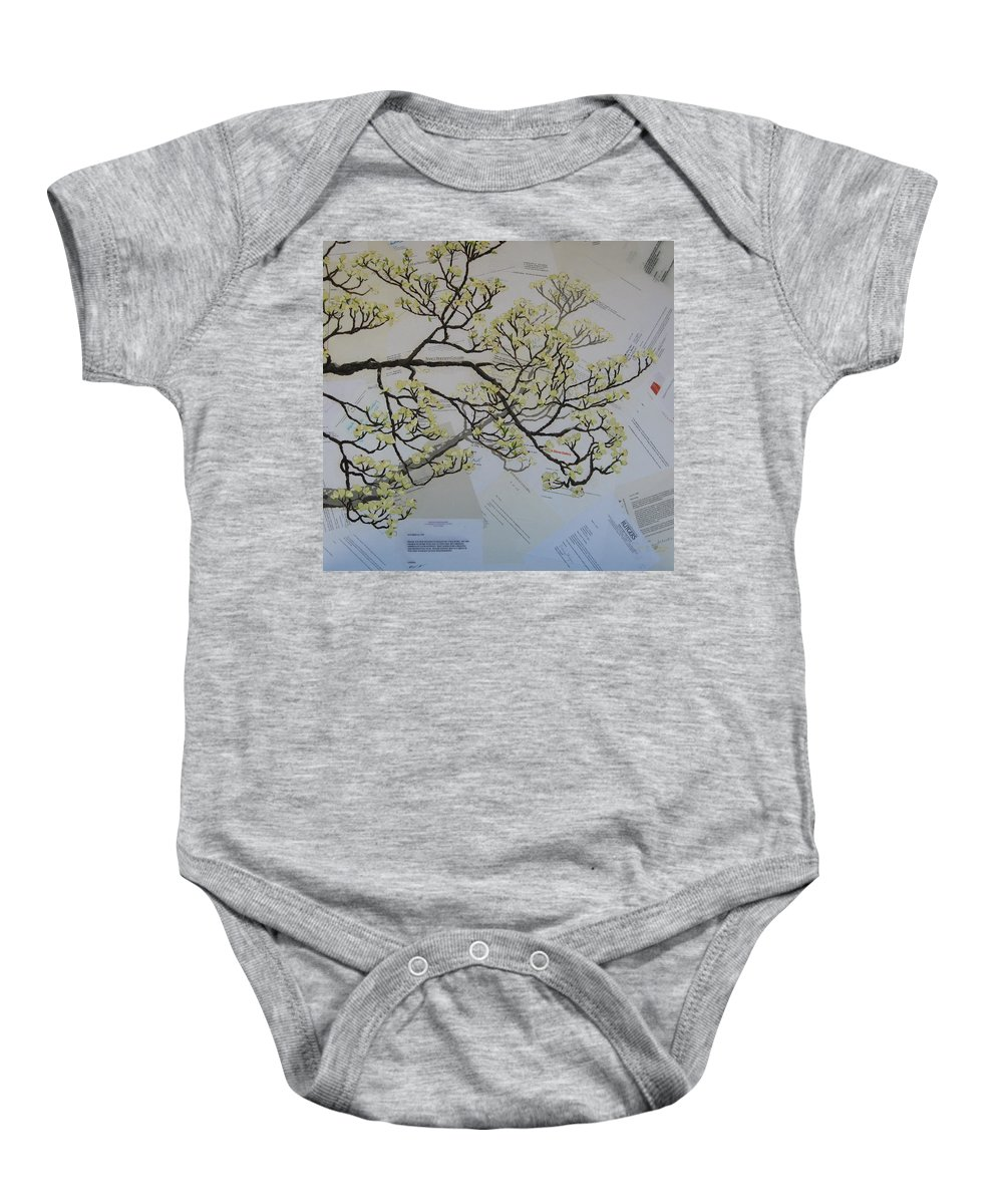 Collage Baby Onesie featuring the painting Dear Artist by Leah Tomaino