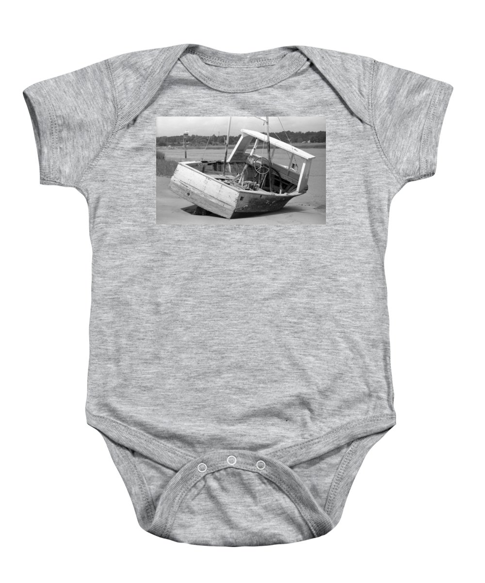Abandoned Baby Onesie featuring the photograph Decommissioned by Richard Rizzo