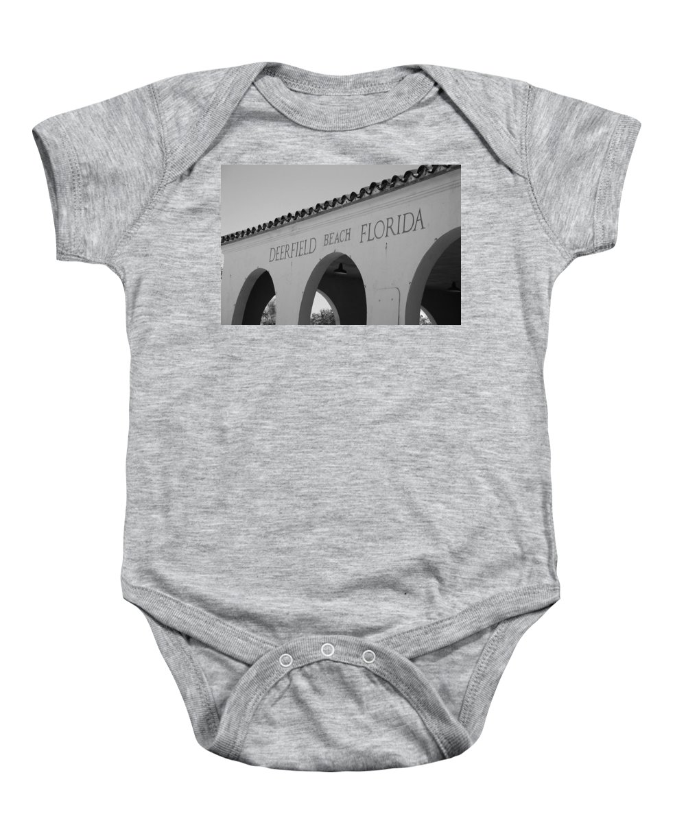 Black And White Baby Onesie featuring the photograph Deerfield Beach Florida by Rob Hans