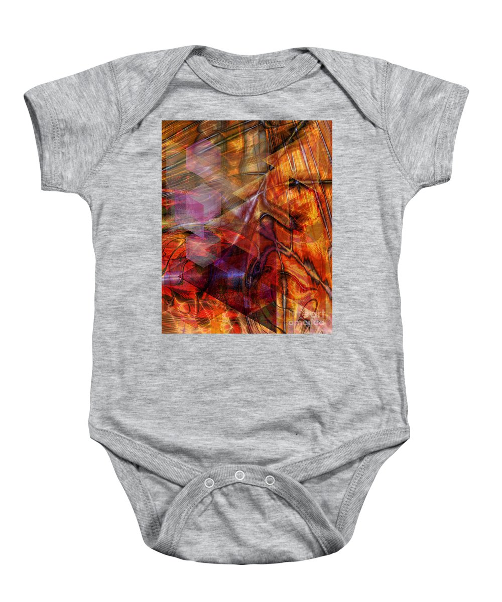 Deguello Sunrise Baby Onesie featuring the digital art Deguello Sunrise by John Beck