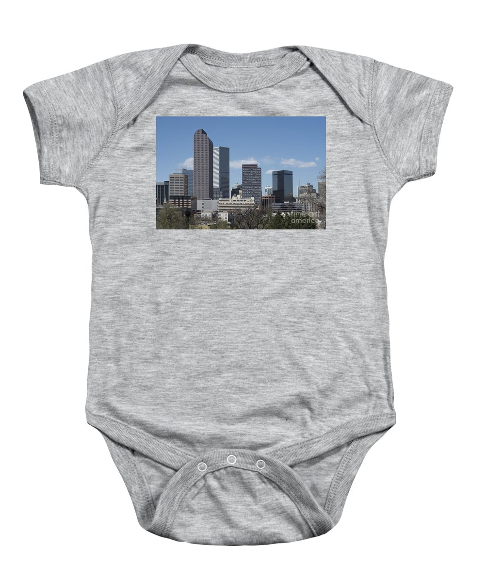 Buildings Baby Onesie featuring the photograph Denver Colorado by Juli Scalzi