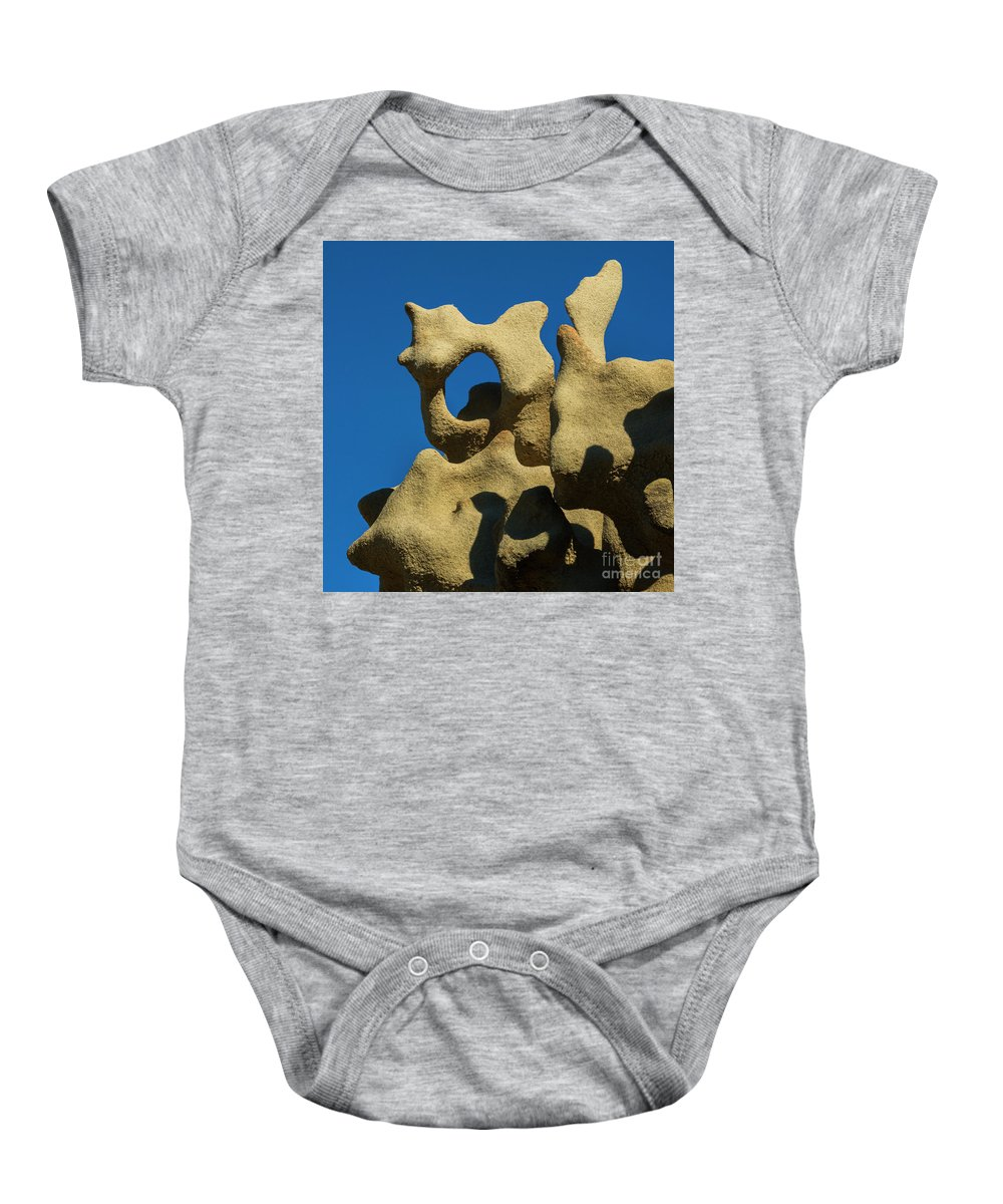 Fantasy Canyon Baby Onesie featuring the photograph Desert Shadow Puppets by Mike Dawson