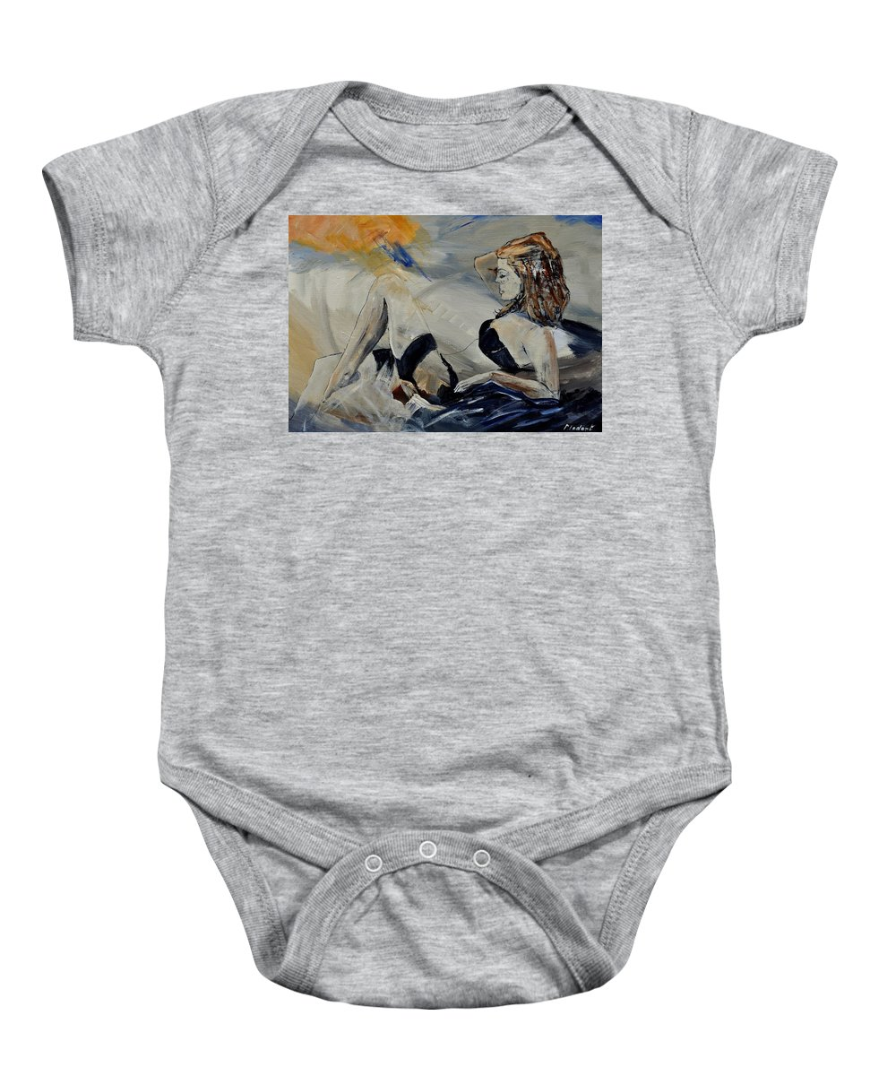 Female Baby Onesie featuring the painting Deshabille 570150 by Pol Ledent