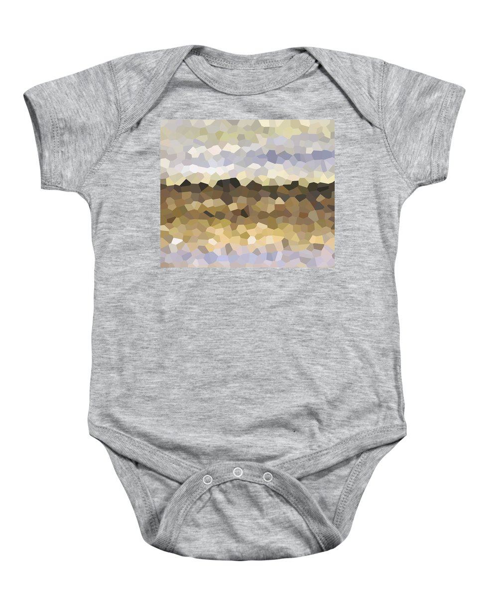 Mosaic Baby Onesie featuring the digital art Design 87 by Lucie Dumas
