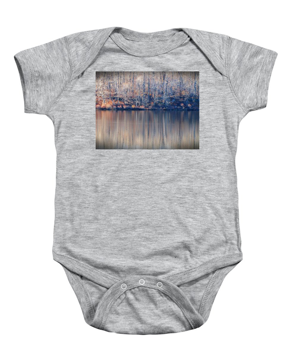 Rickets Glen Baby Onesie featuring the photograph Desolate Splendor by David Dehner
