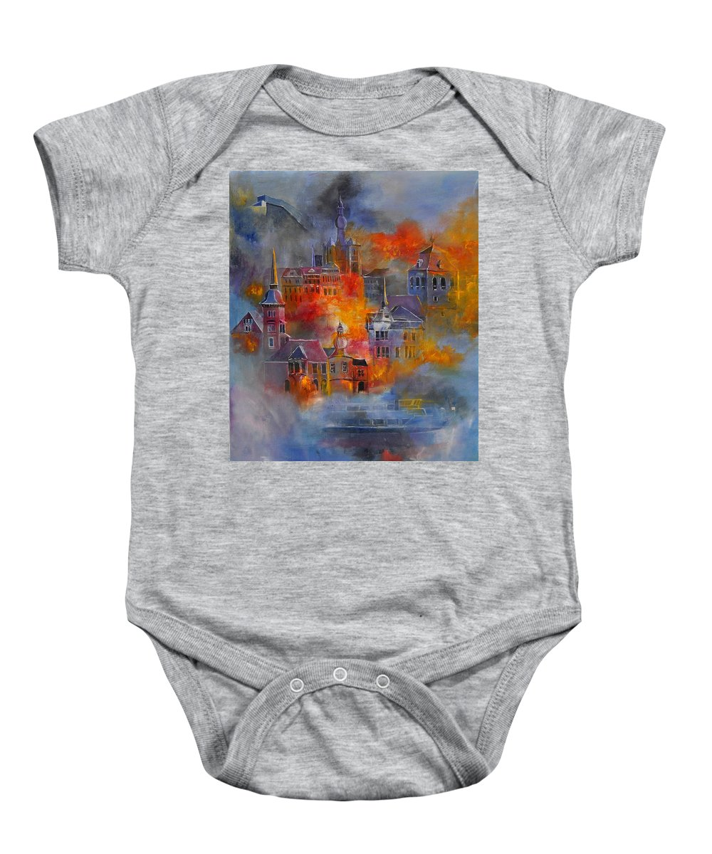 Urban Landscape Baby Onesie featuring the painting Dinant 670150 by Pol Ledent