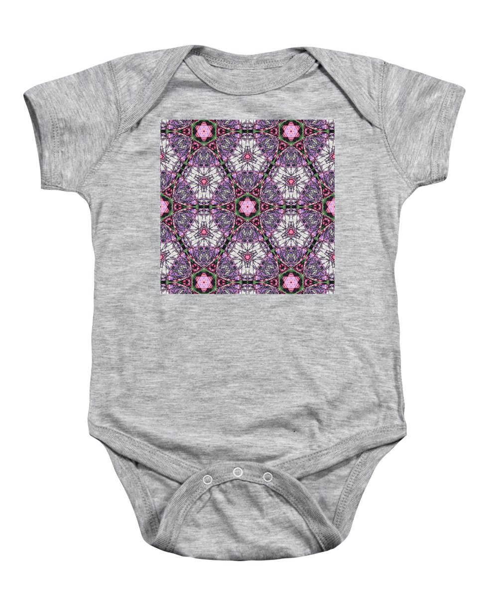 Abstract Baby Onesie featuring the digital art Dipsomance by Andrew Kotlinski