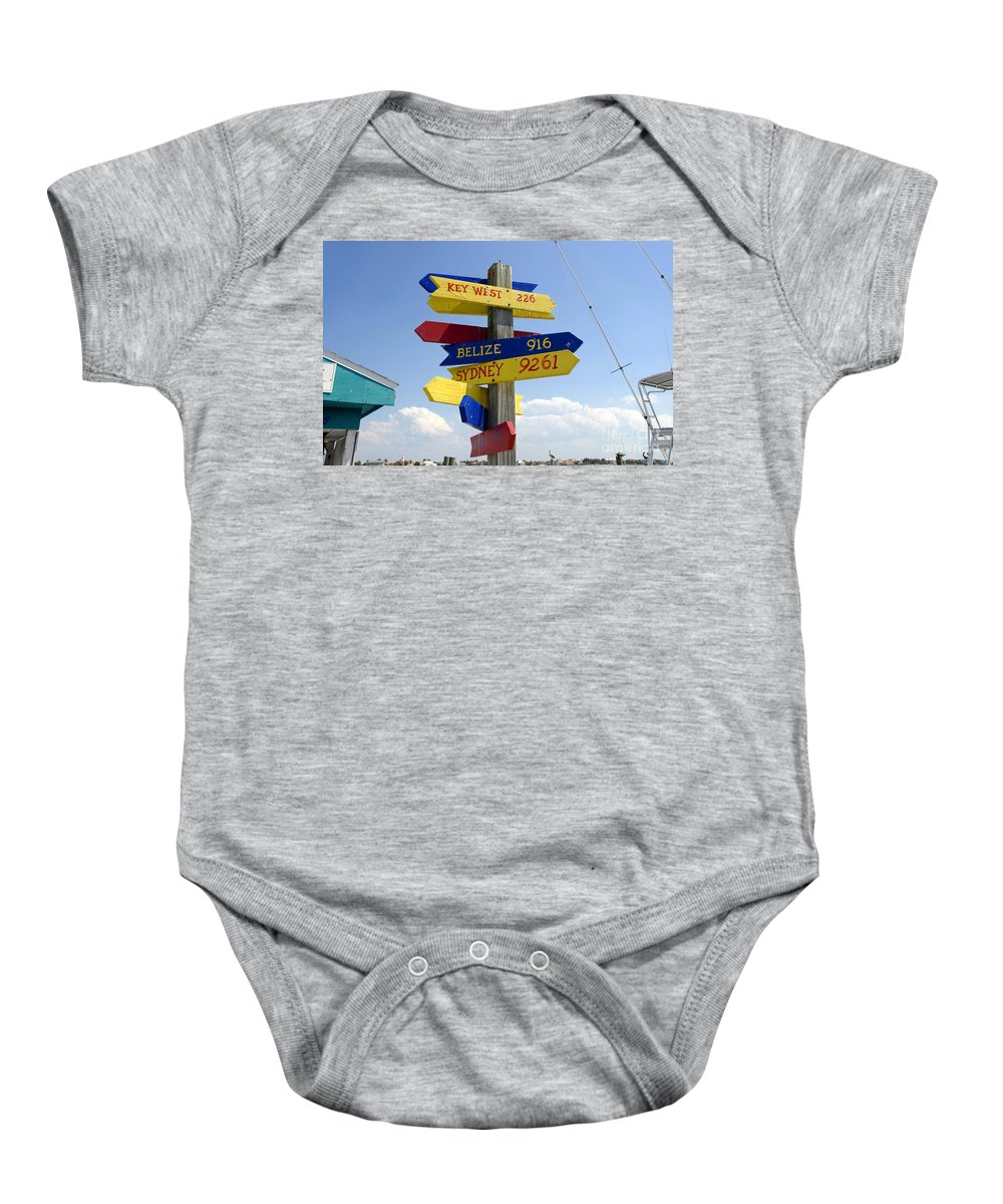Paradise Baby Onesie featuring the photograph Directions To Paradise by David Lee Thompson