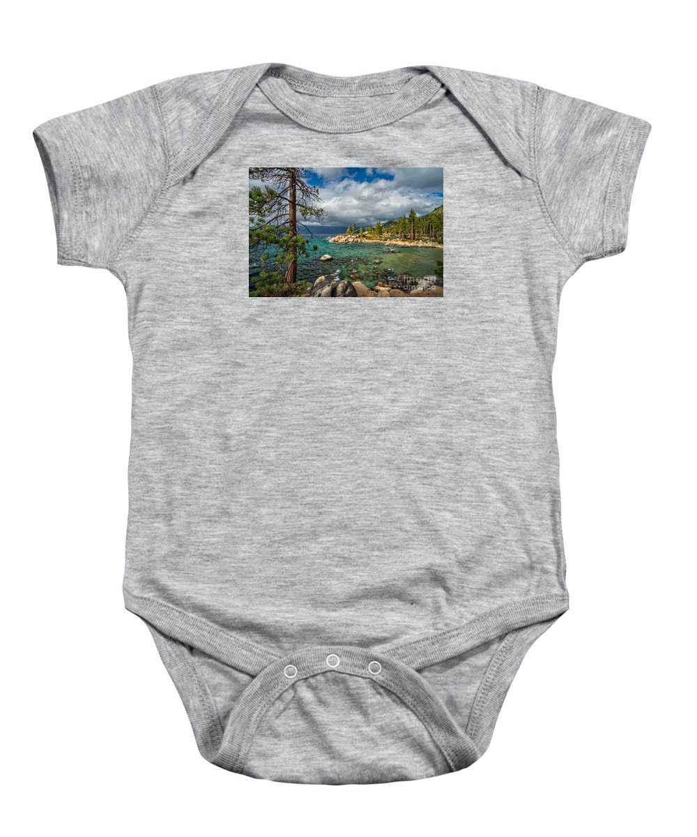 Divers Baby Onesie featuring the photograph Divers Cove At Lake Tahoe by Dianne Phelps