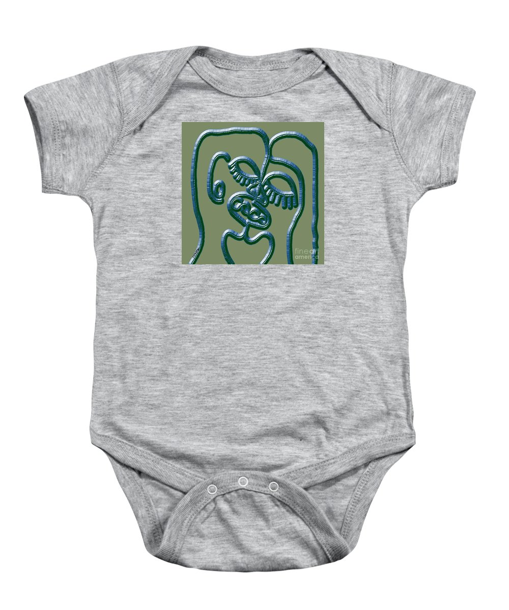 Kiss Baby Onesie featuring the painting Dna 2 by Patrick J Murphy